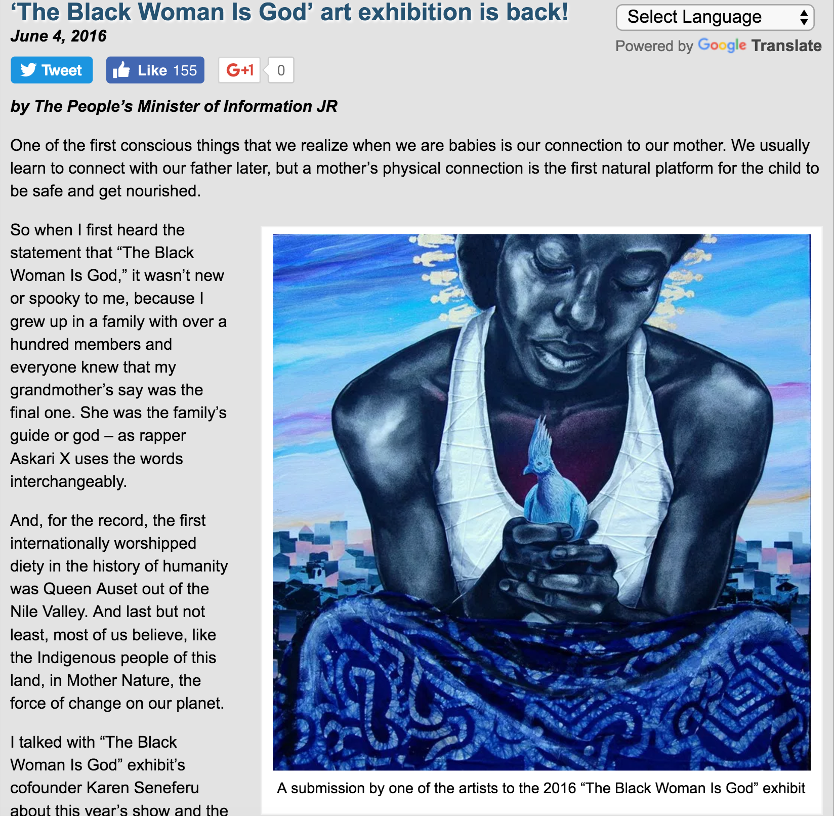 'The Black Woman Is God' art exhibition is back!
