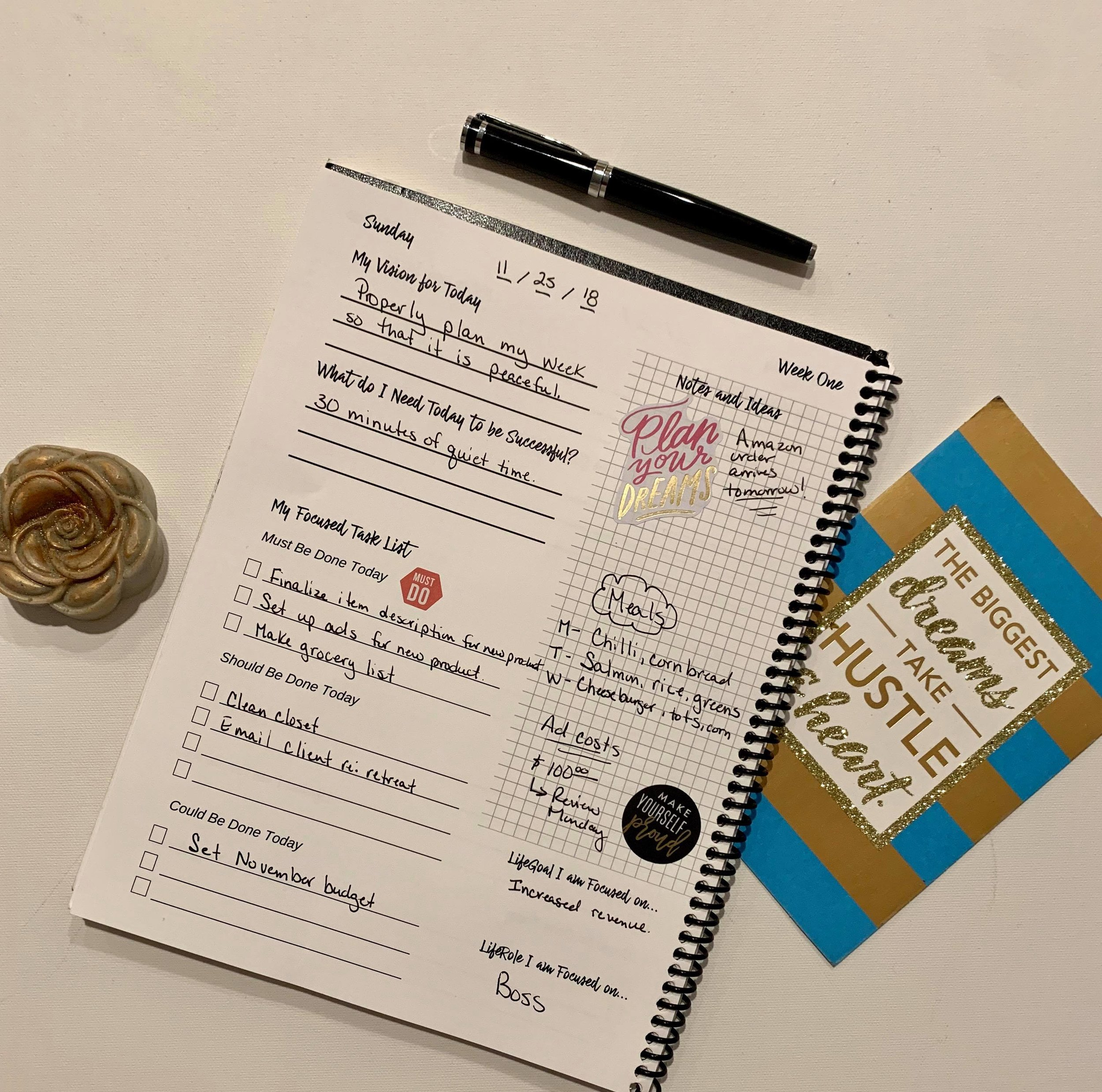 Daily Planning Pages - Plan to win your day and you will win at life.