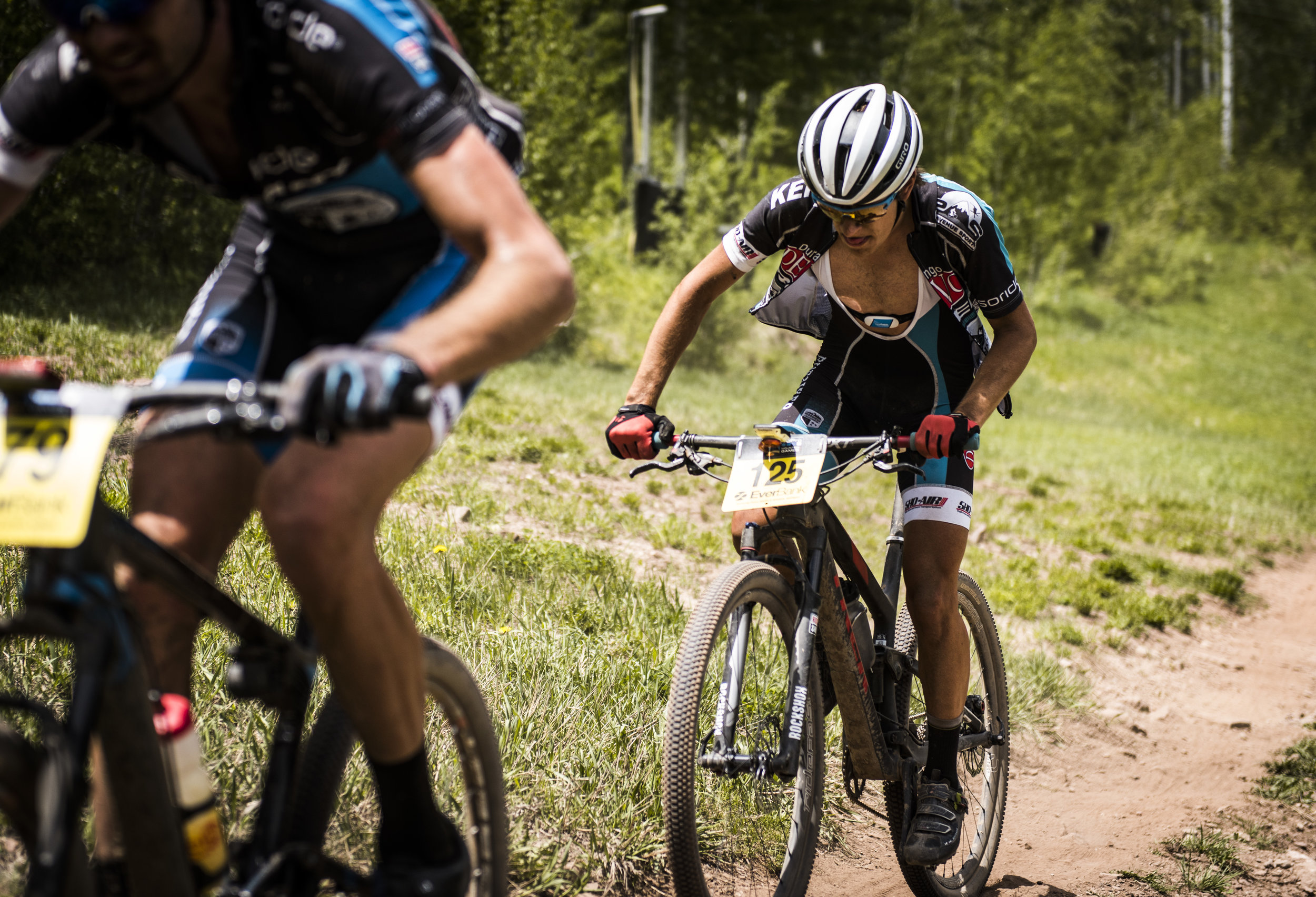 Suffering up the steep slopes of Vail's GoPro Mountain Games XC race
