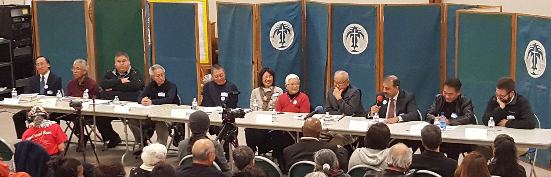 Eleven member panel addressing scapegoating of minority groups.