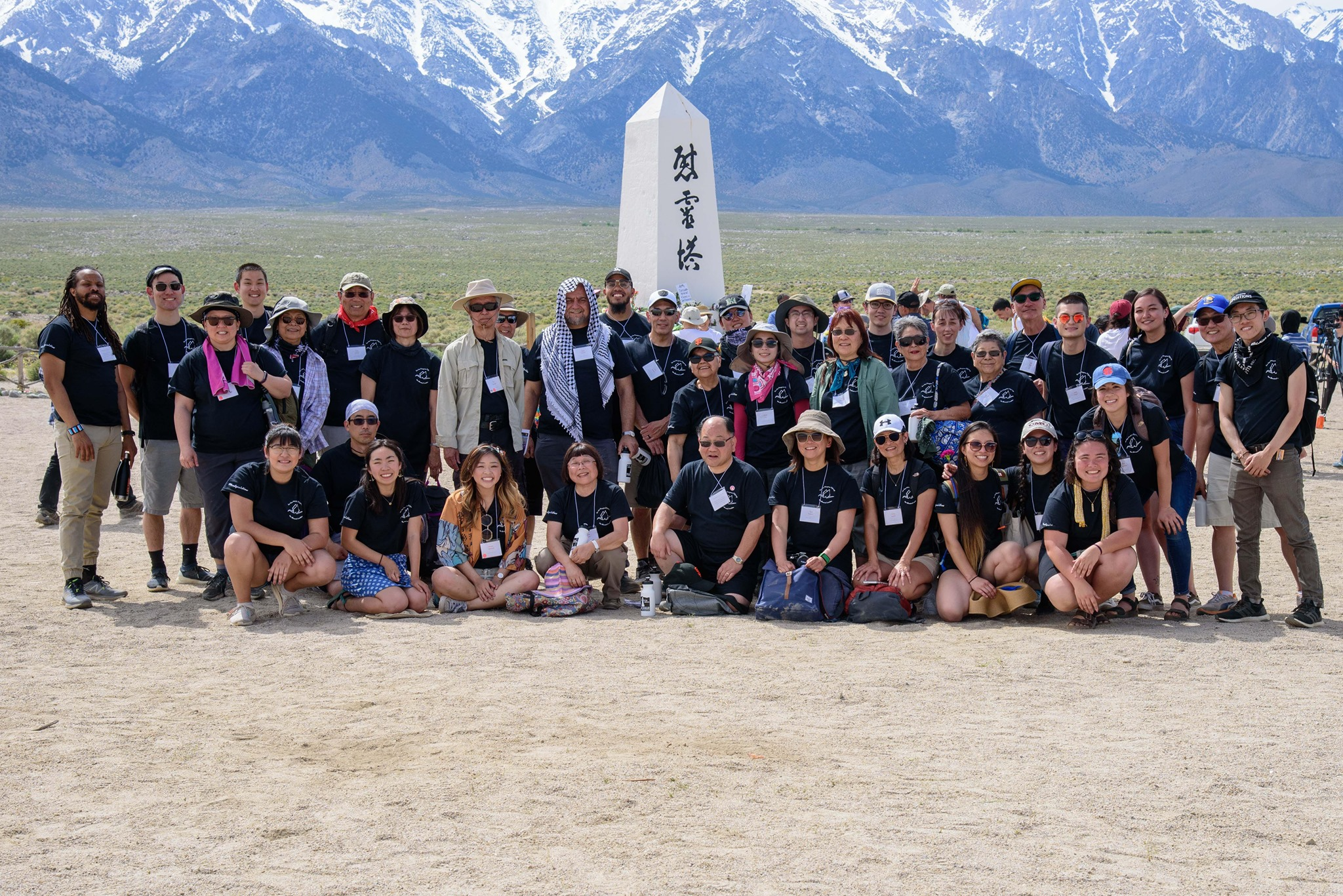 2019 San Jose JACL Manzanar Pilgrims. Photo by Joshua Kaizuka