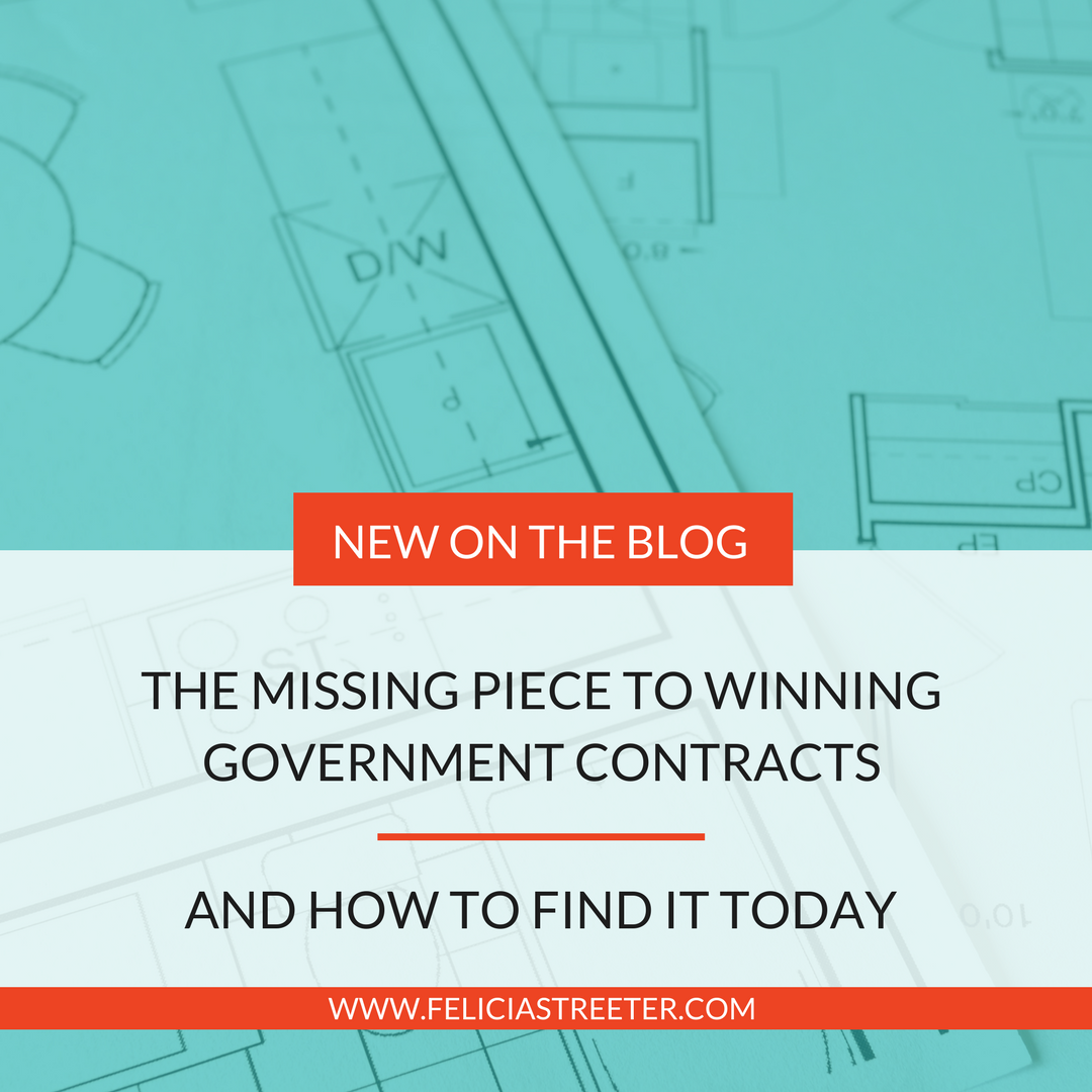THE KEY TO THE MISSING PIECE TO YOUR FIRST GOVERNMENT CONTRACT