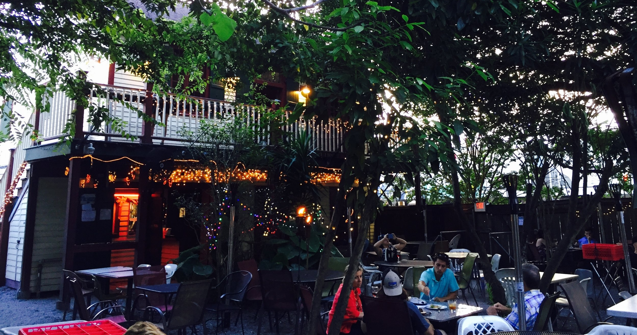 Bacchanal wine bar in the Bywater of New Orleans.