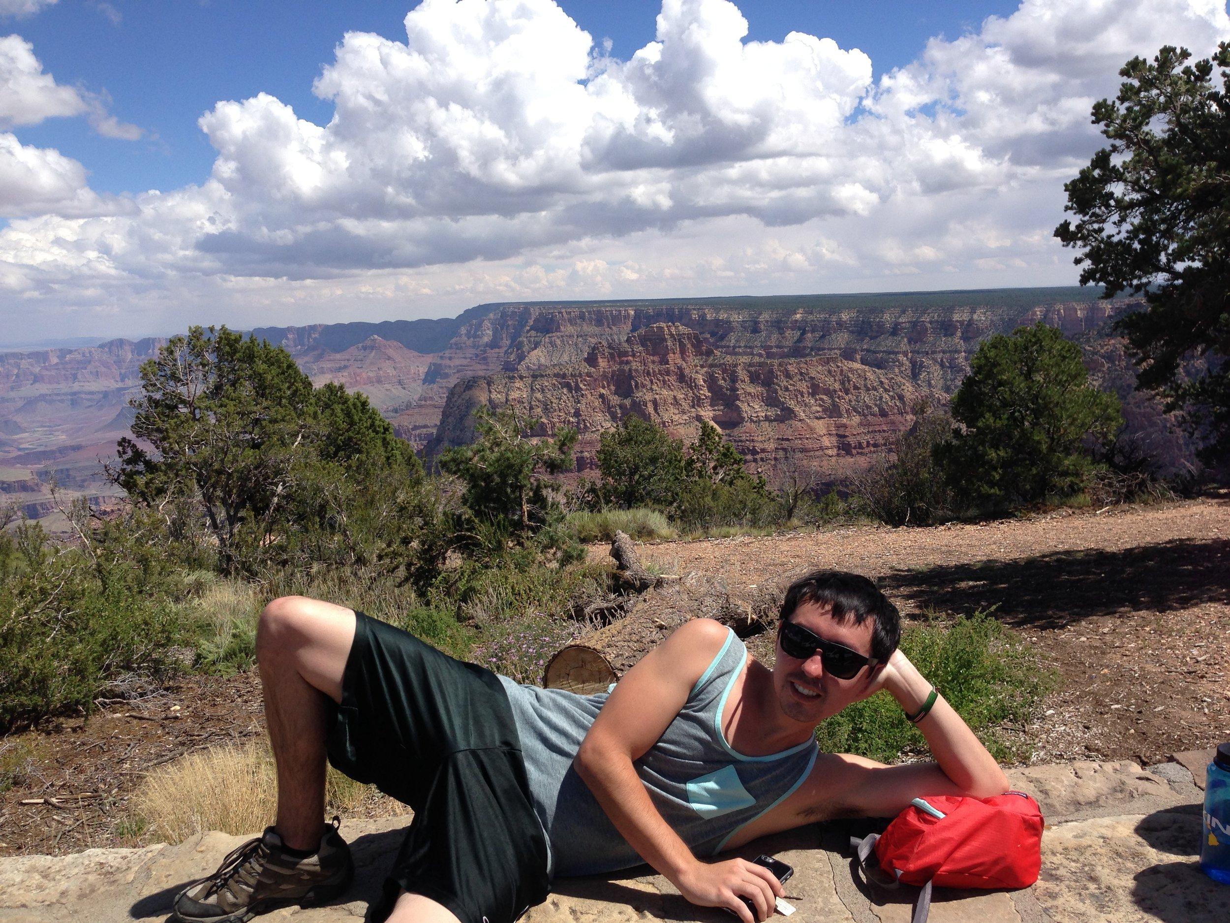 Matt posing at the Grand Canyon
