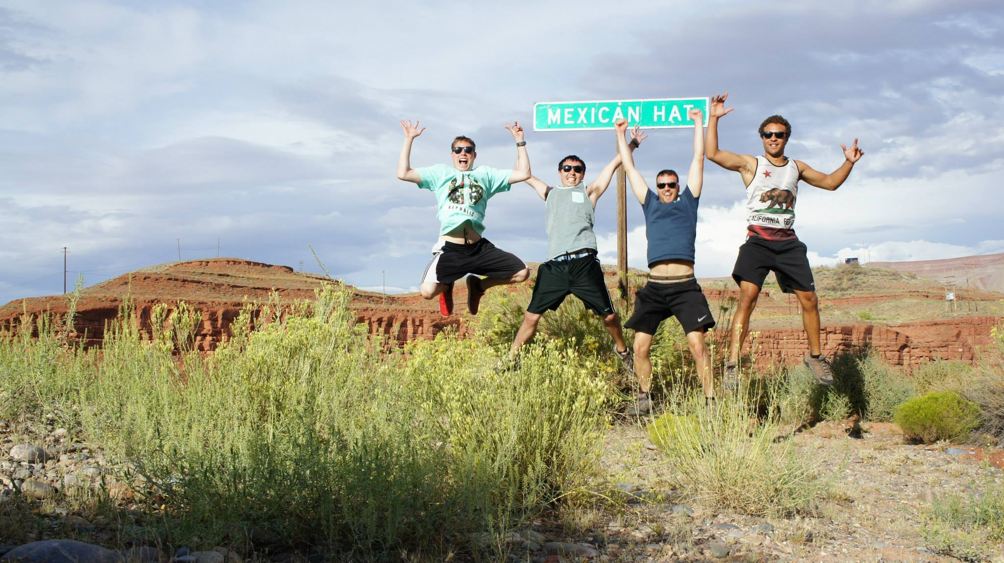 A demonstration of the excitement one feels upon arrival in Mexican Hat, Utah.