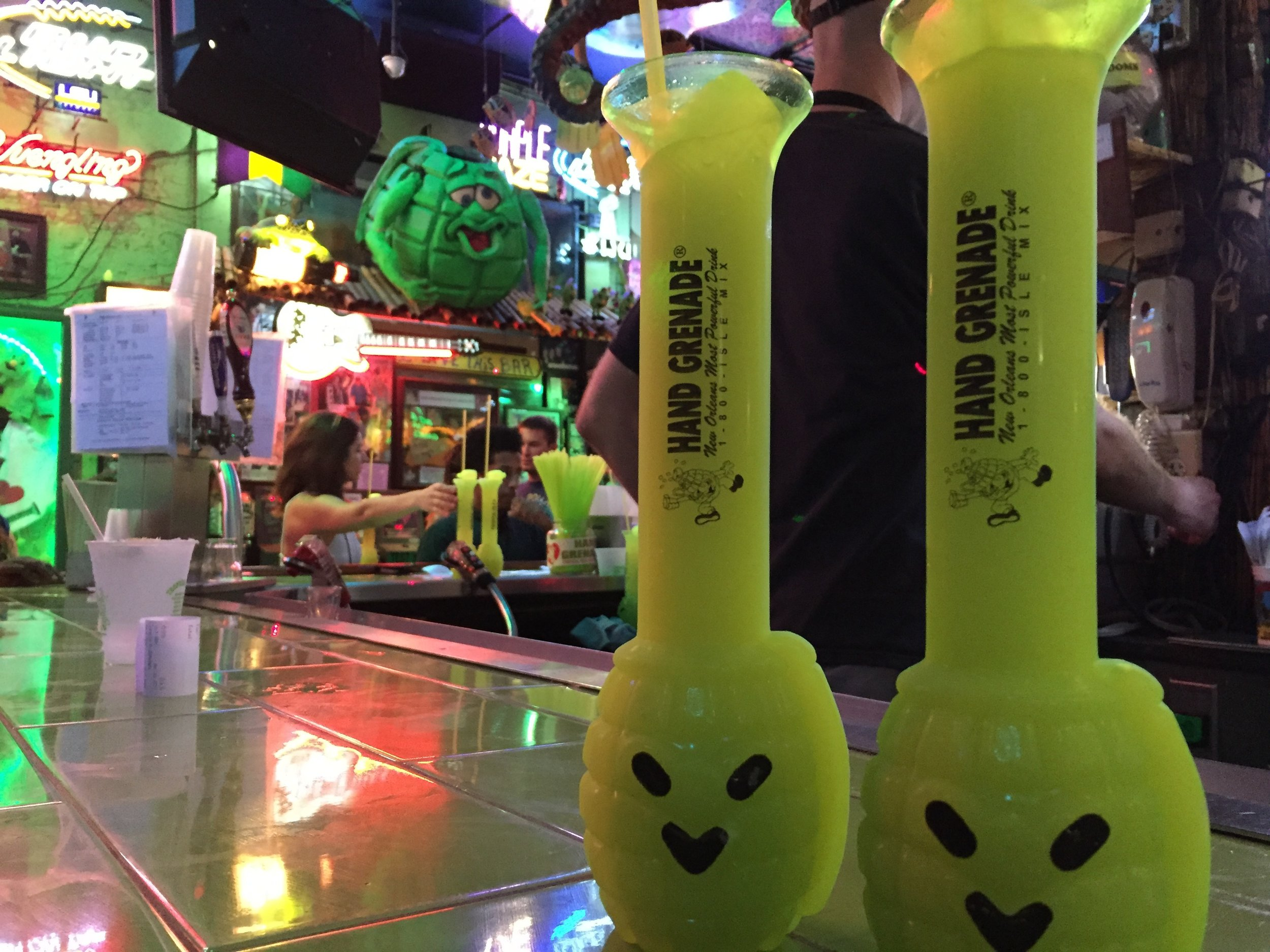 Hand Grenades at the Tropical Isle in New Orleans.