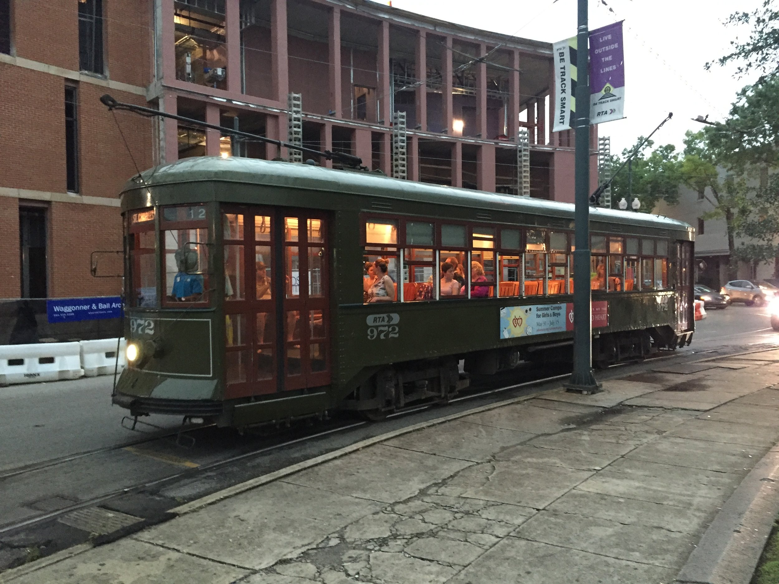 New Orleans public transportation.