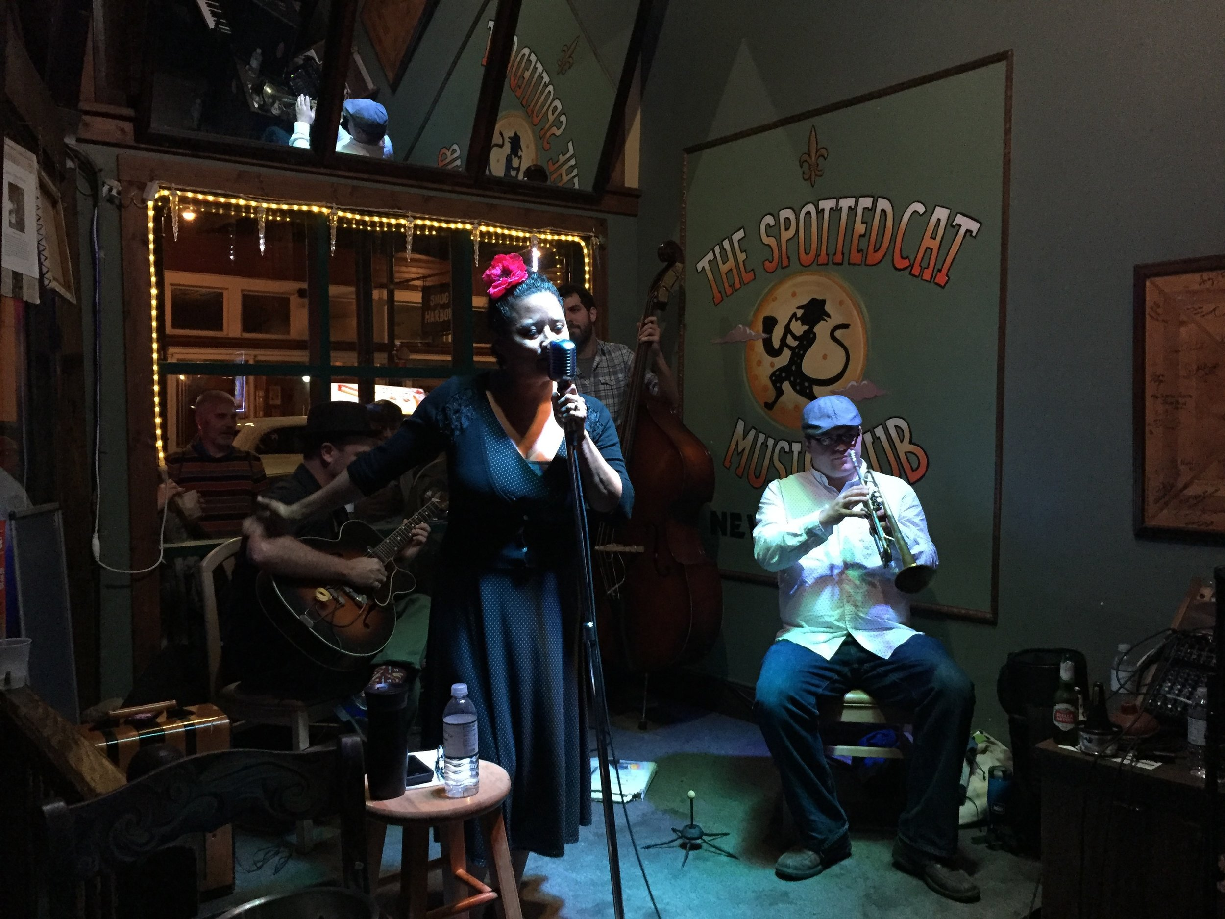 Live music at the Spotted Cat on Frenchmen Street.