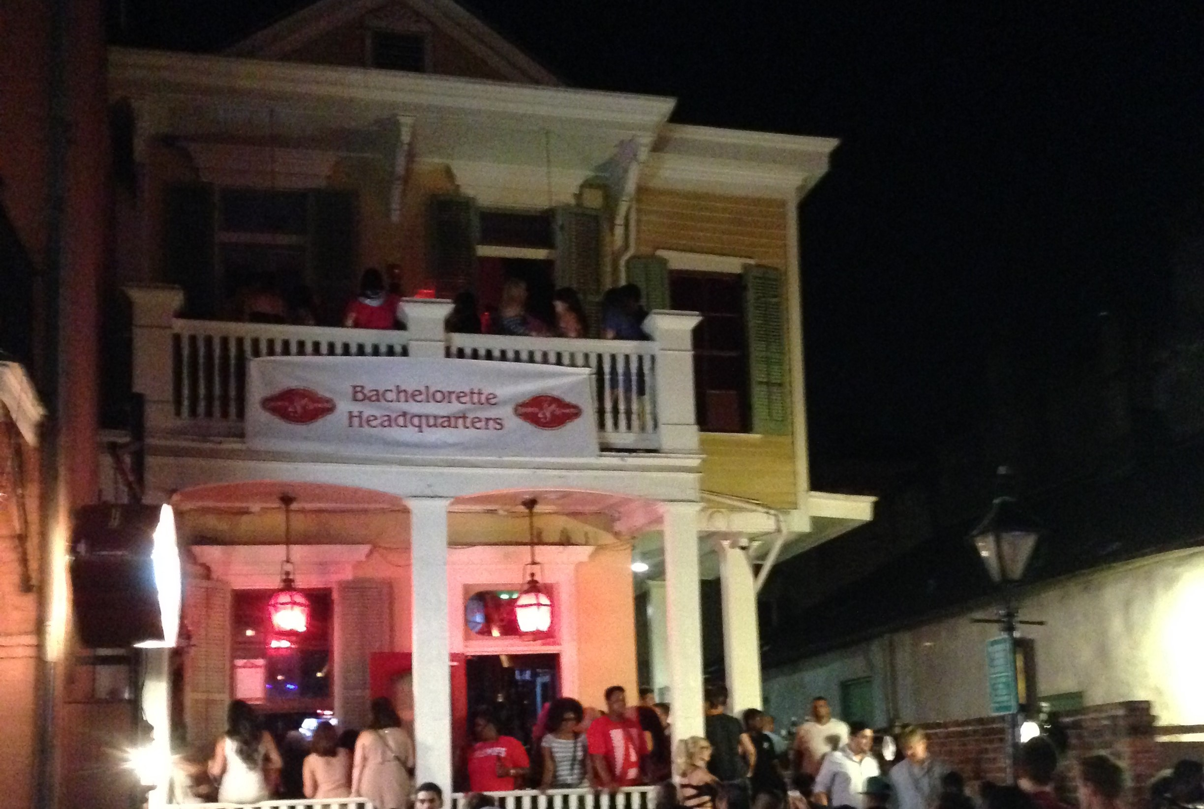 The party keeps going after the Mardi Gras parades on Bourbon Street.