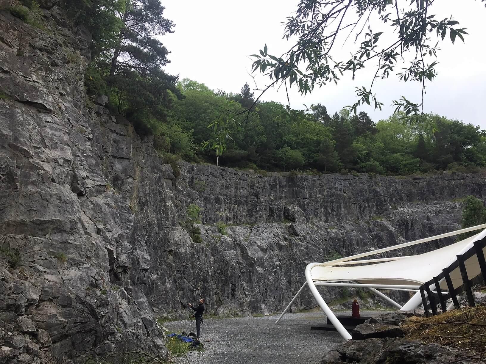 Climbing at Ballykeeffe Quarry