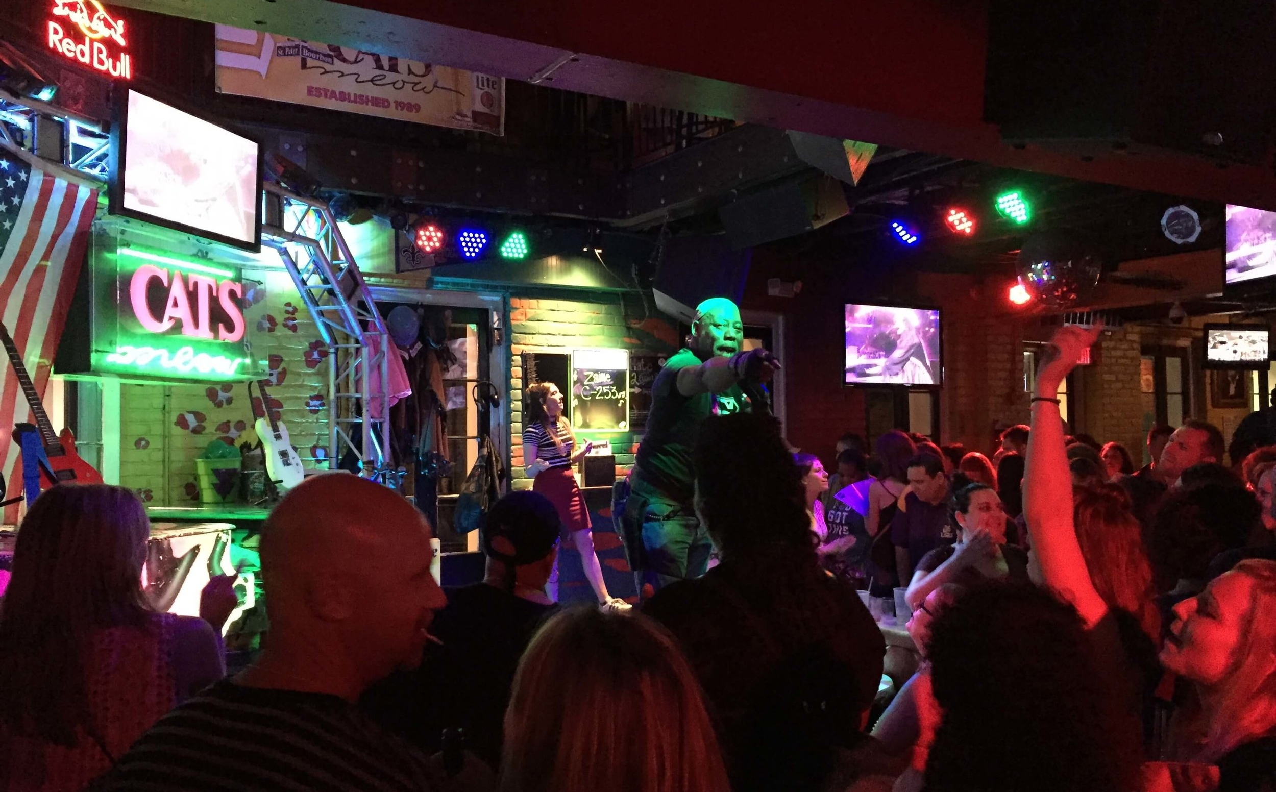 Karaoke at the World Famous Cats Meow on Bourbon Street