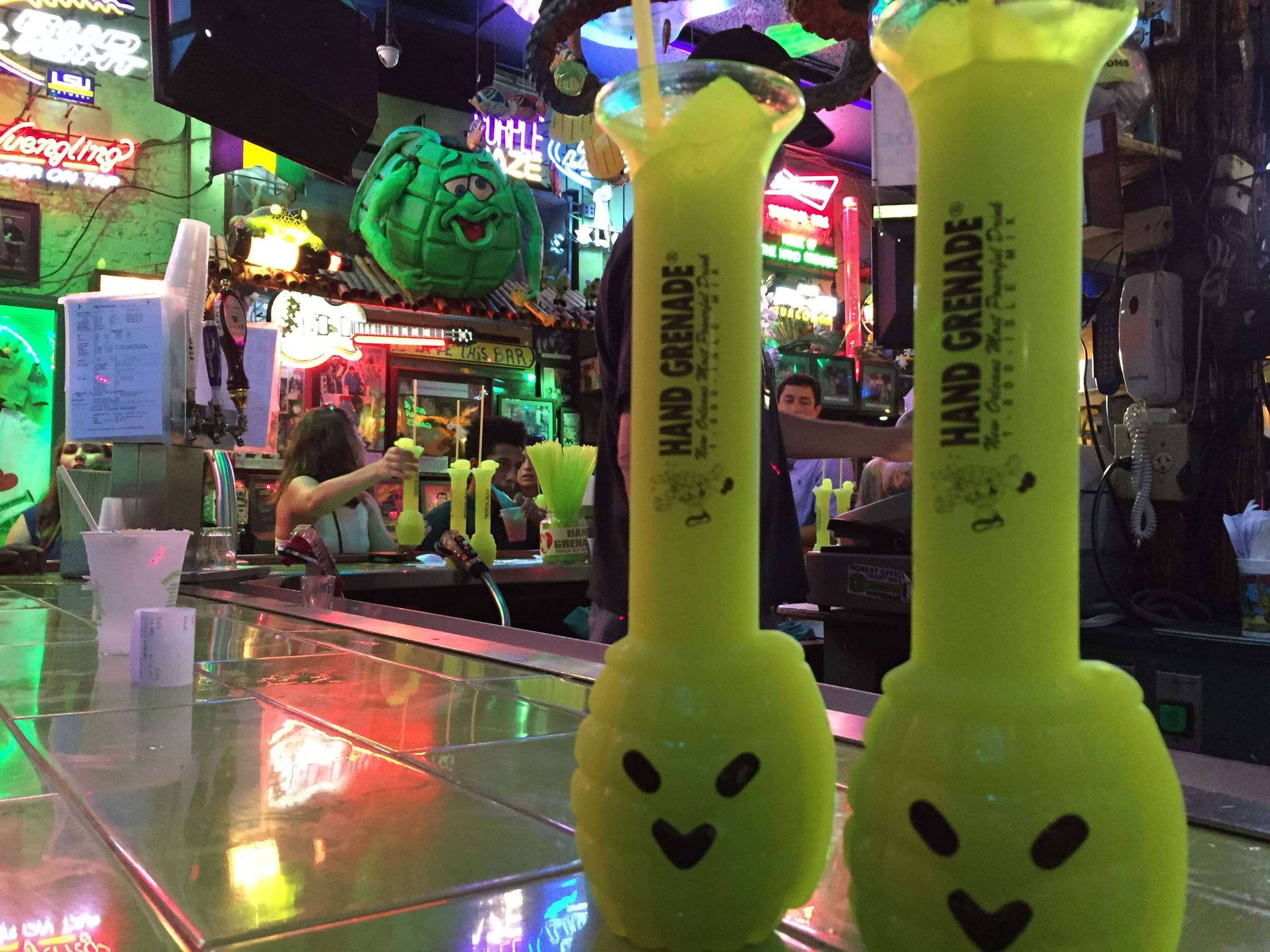 Hand Grenades at Tropical Isle on Bourbon Street