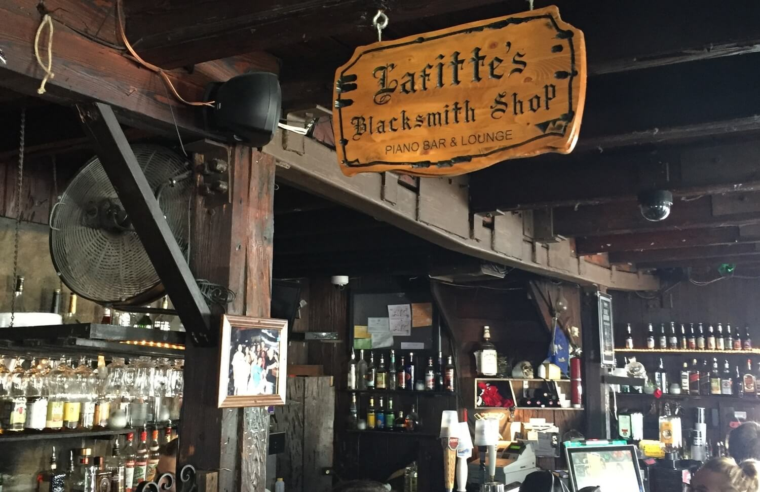 Lafitte's Blacksmith Shop Bar on Bourbon Street