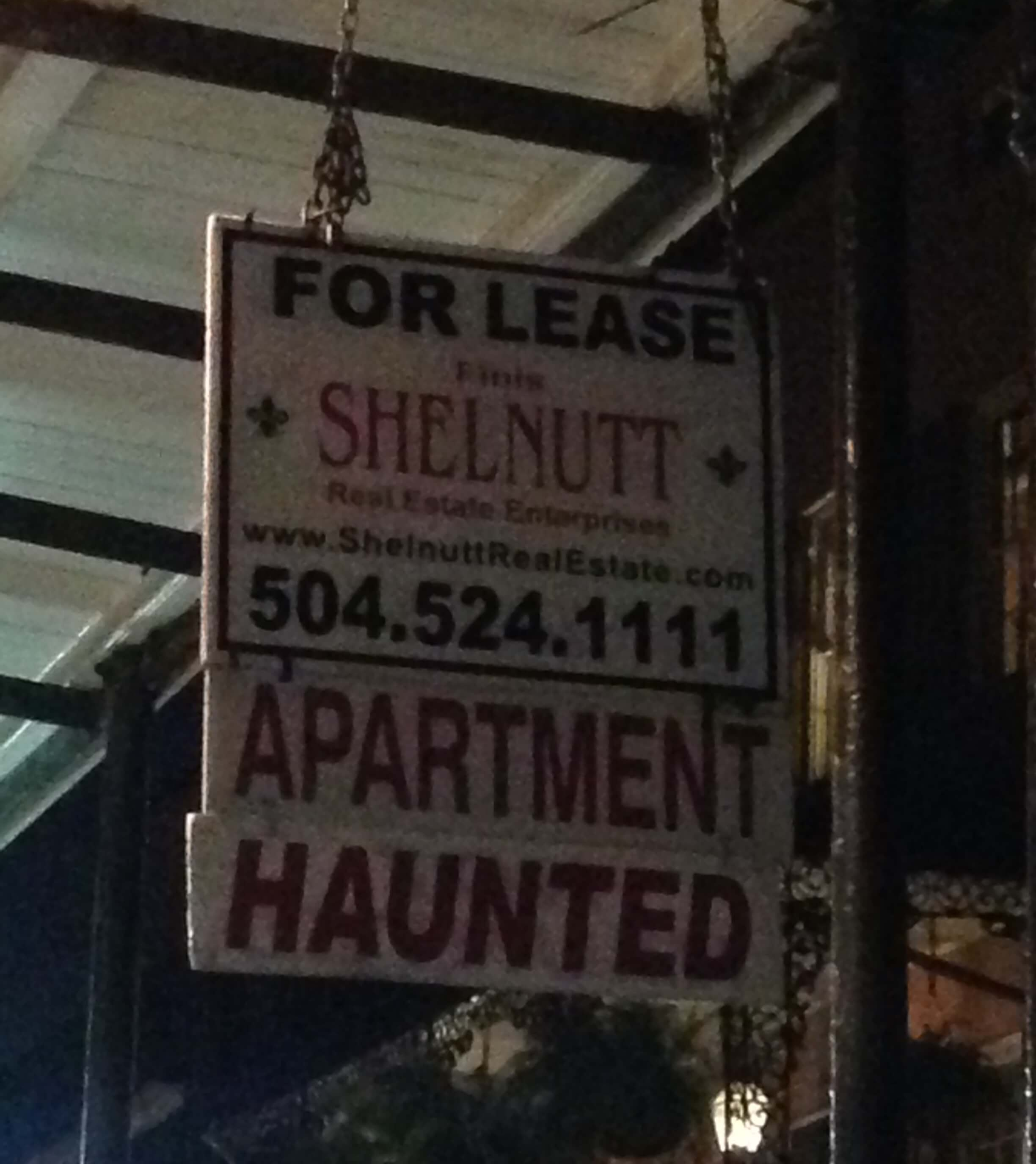 Haunted Apartment for Rent in New Orleans