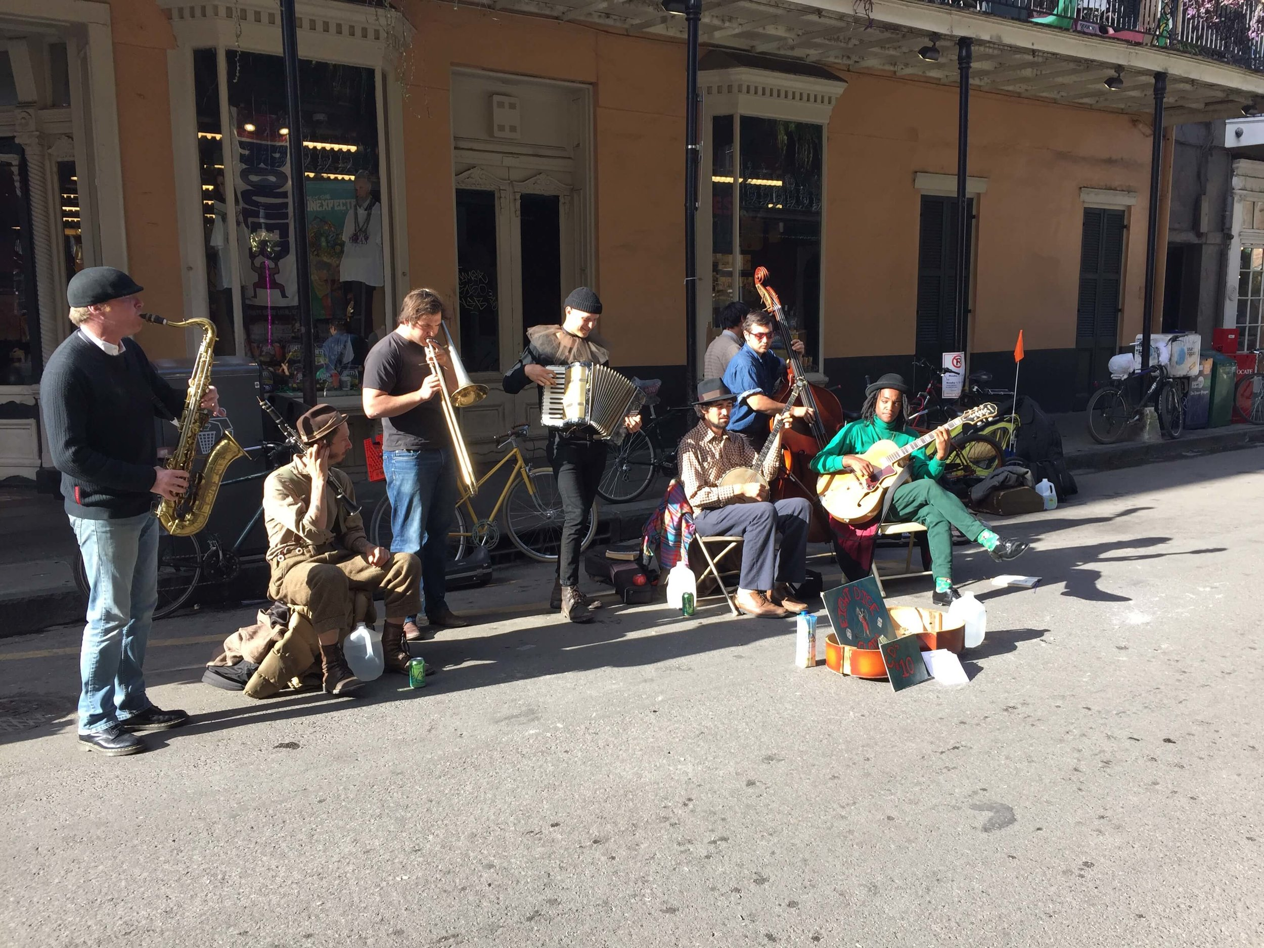 Street Performers in the French Quarter