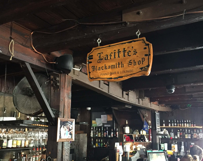 Lafitte's Blacksmith Shop on Bourbon Street