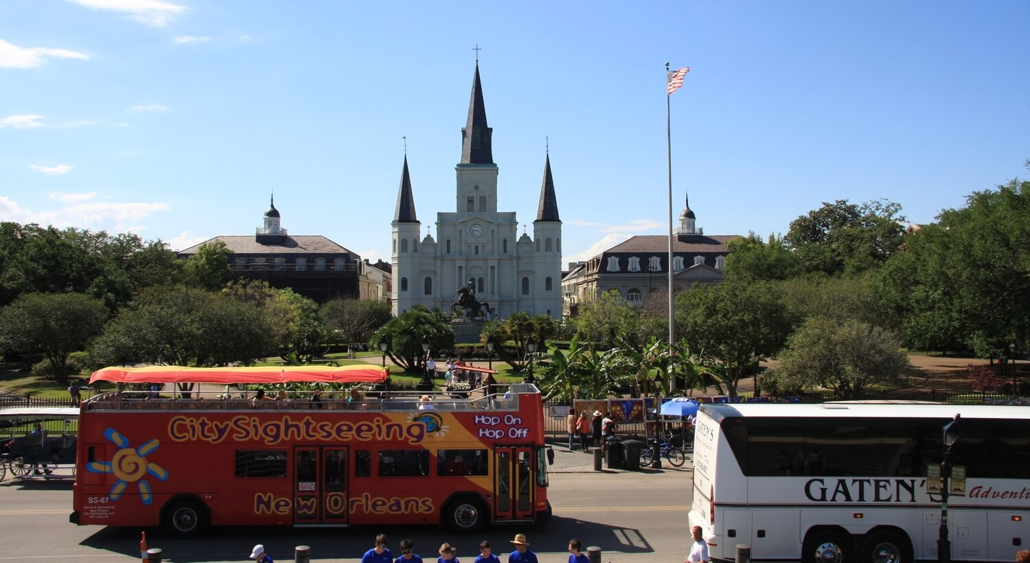 City Sightseeing Tour Bus in New Orleans