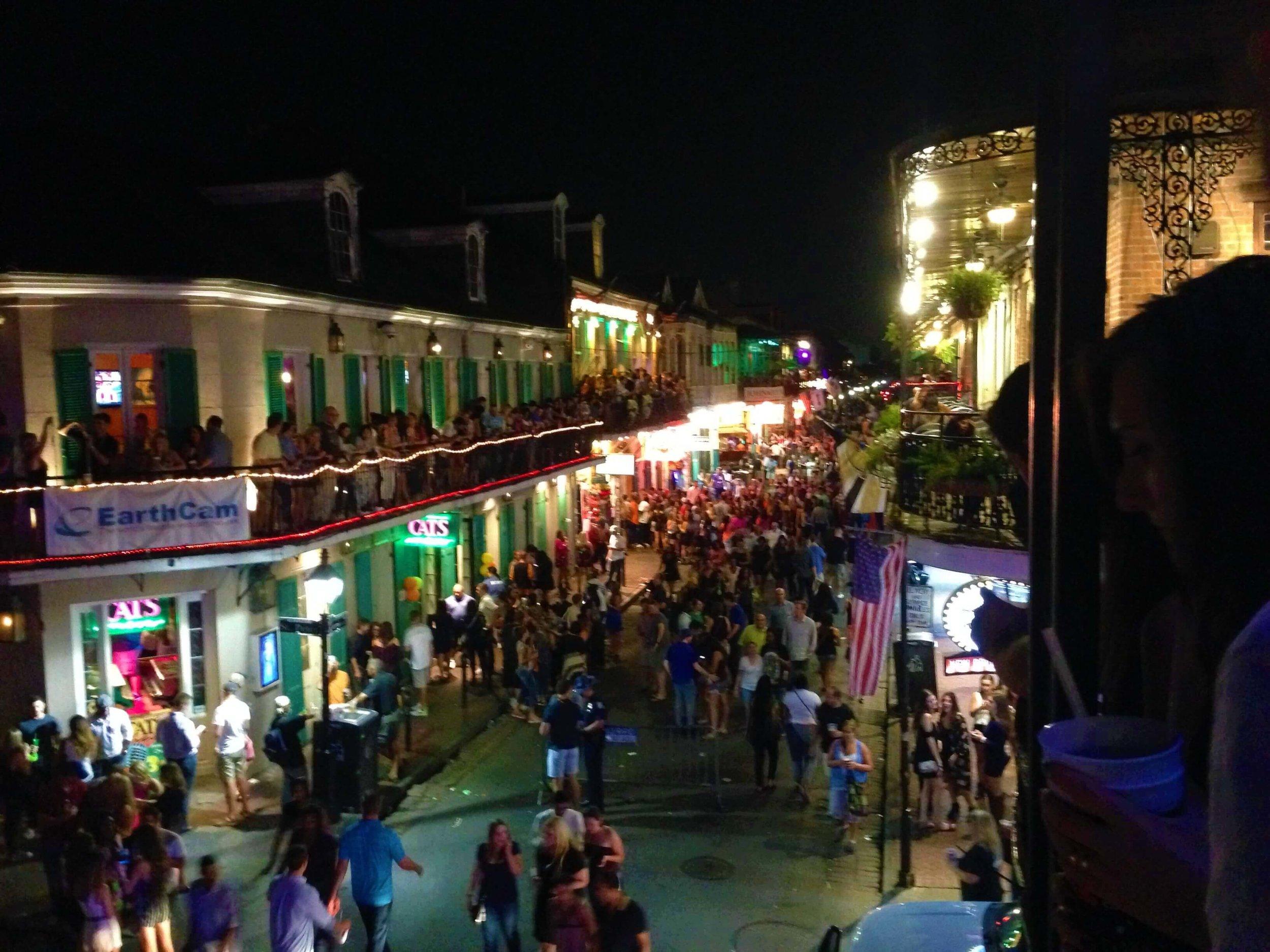 Bourbon Street Balcony View