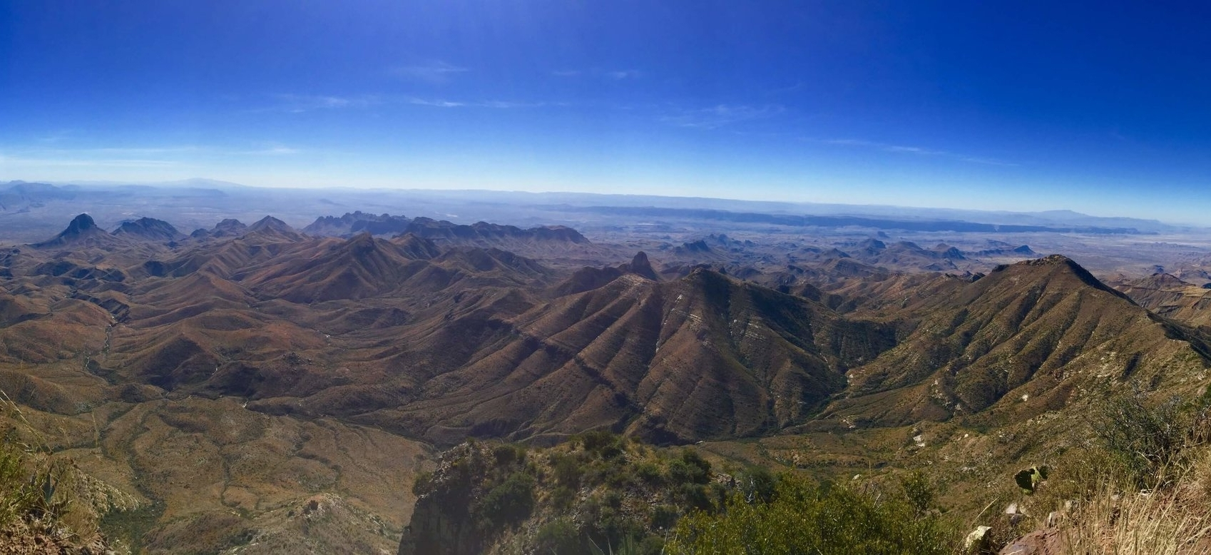 A spectacular view from the South Rim of the Chisos Mountains.