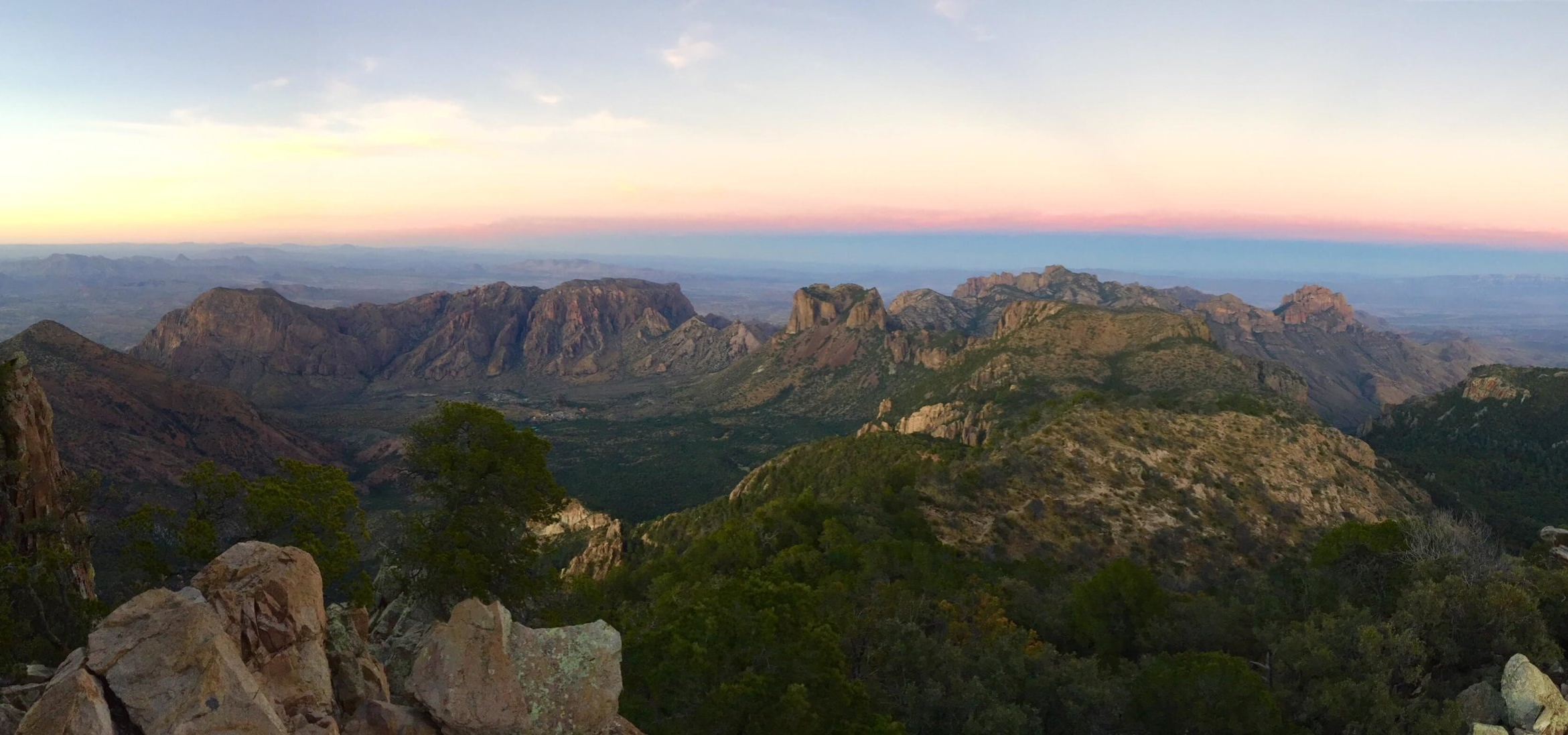 View from Emery Peak in Big Bend National Park.