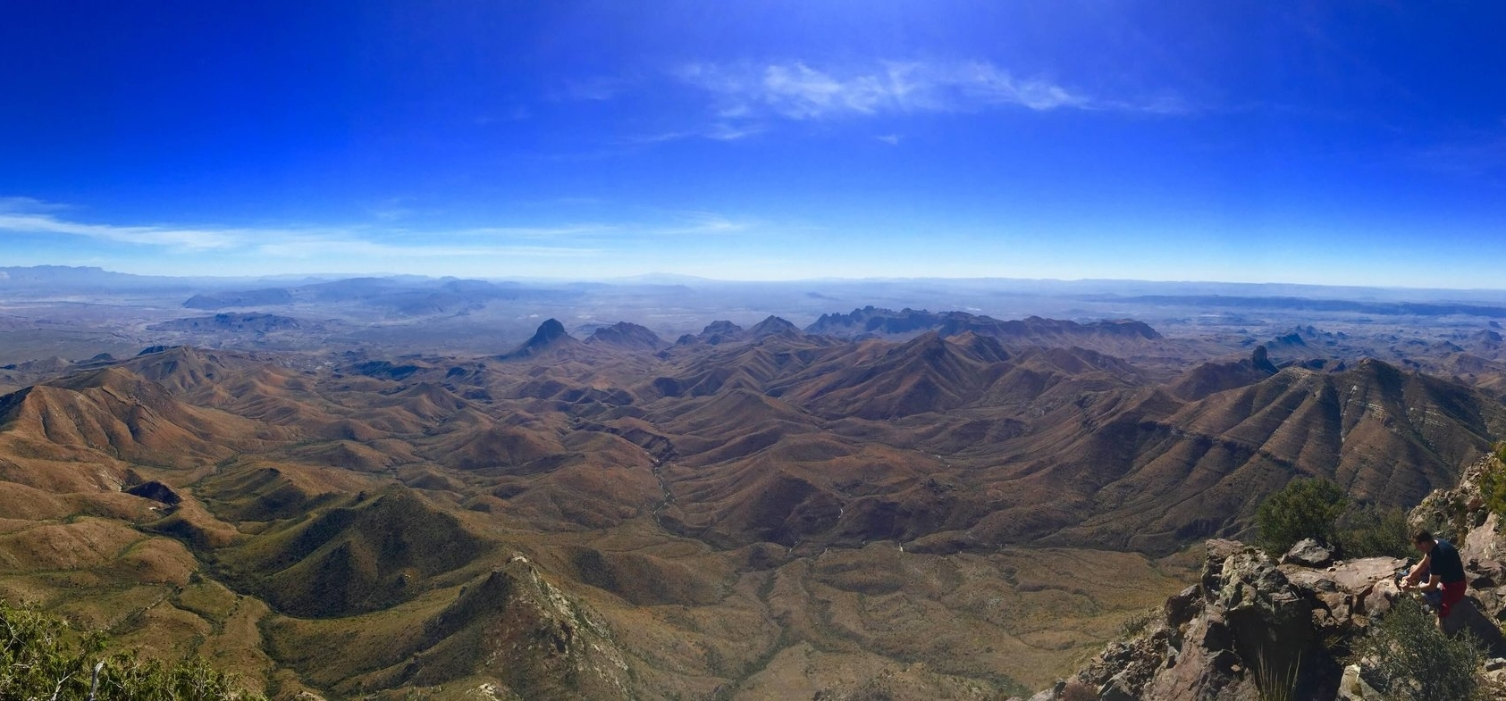 A beautiful sweeping view from the South Rim in Big Bend National Park