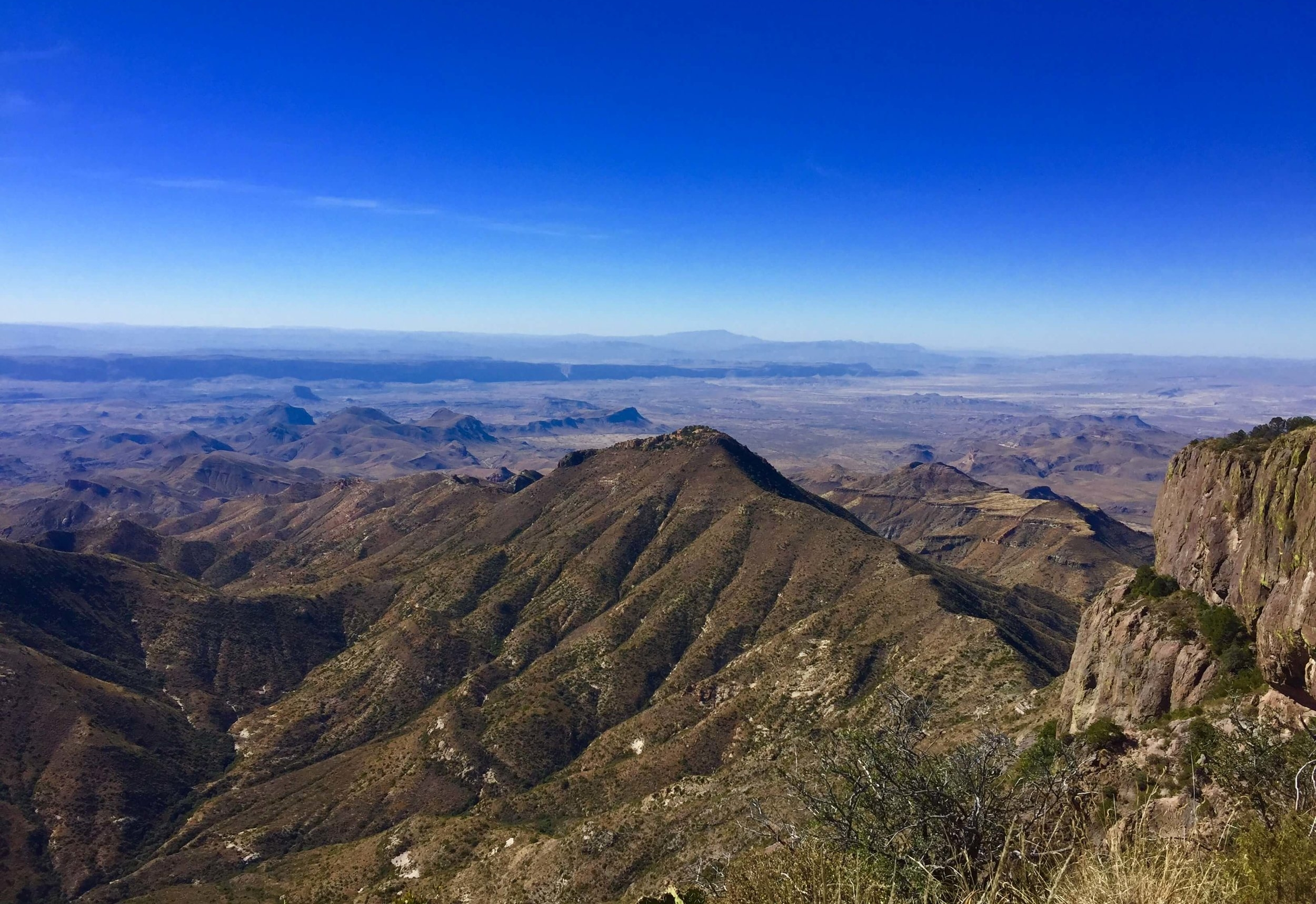 Gazing over the edge of South Rim of the Chisos Mountains