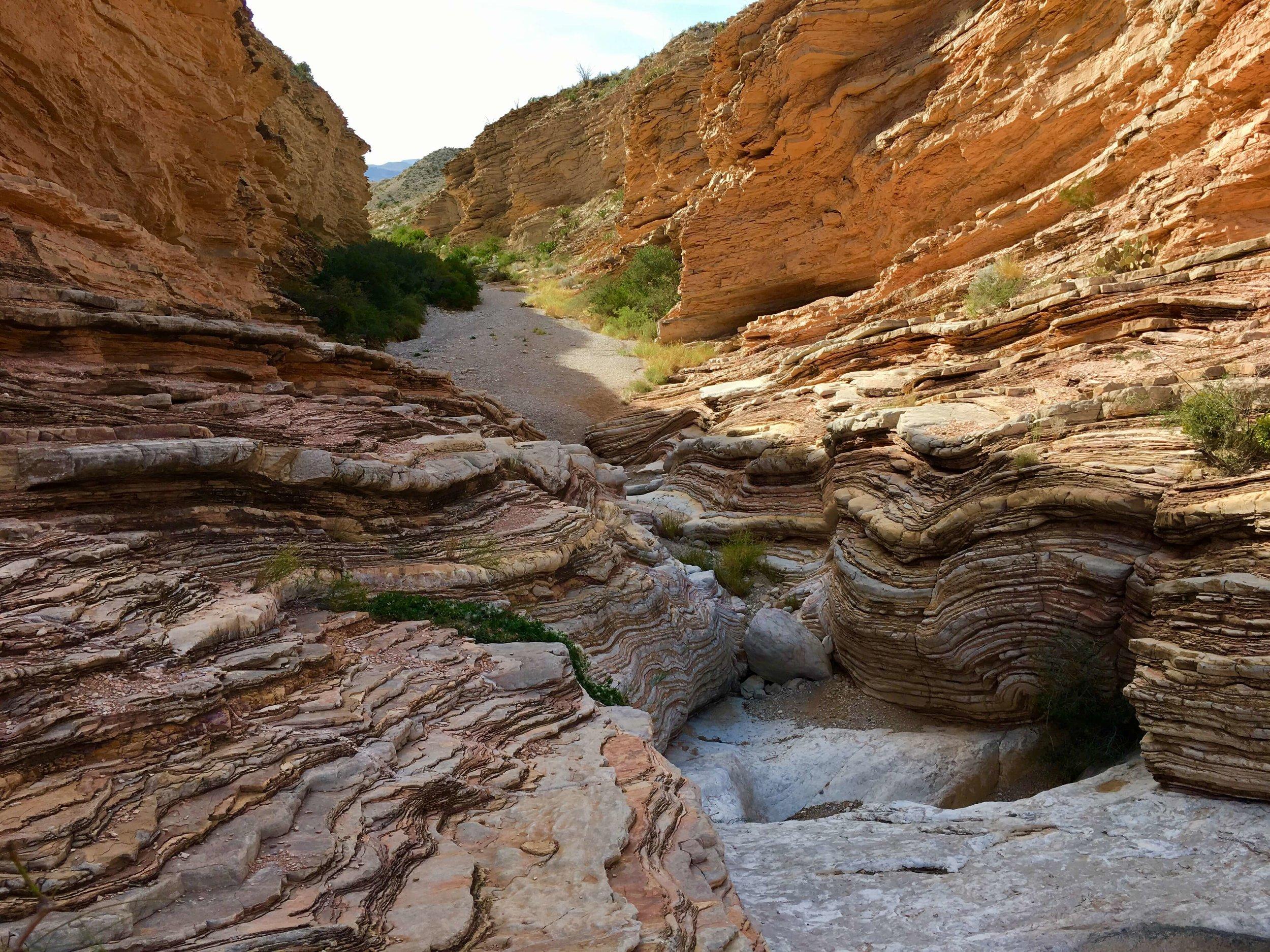 Ernst Tinaja Canyon with a real life tinajaj!