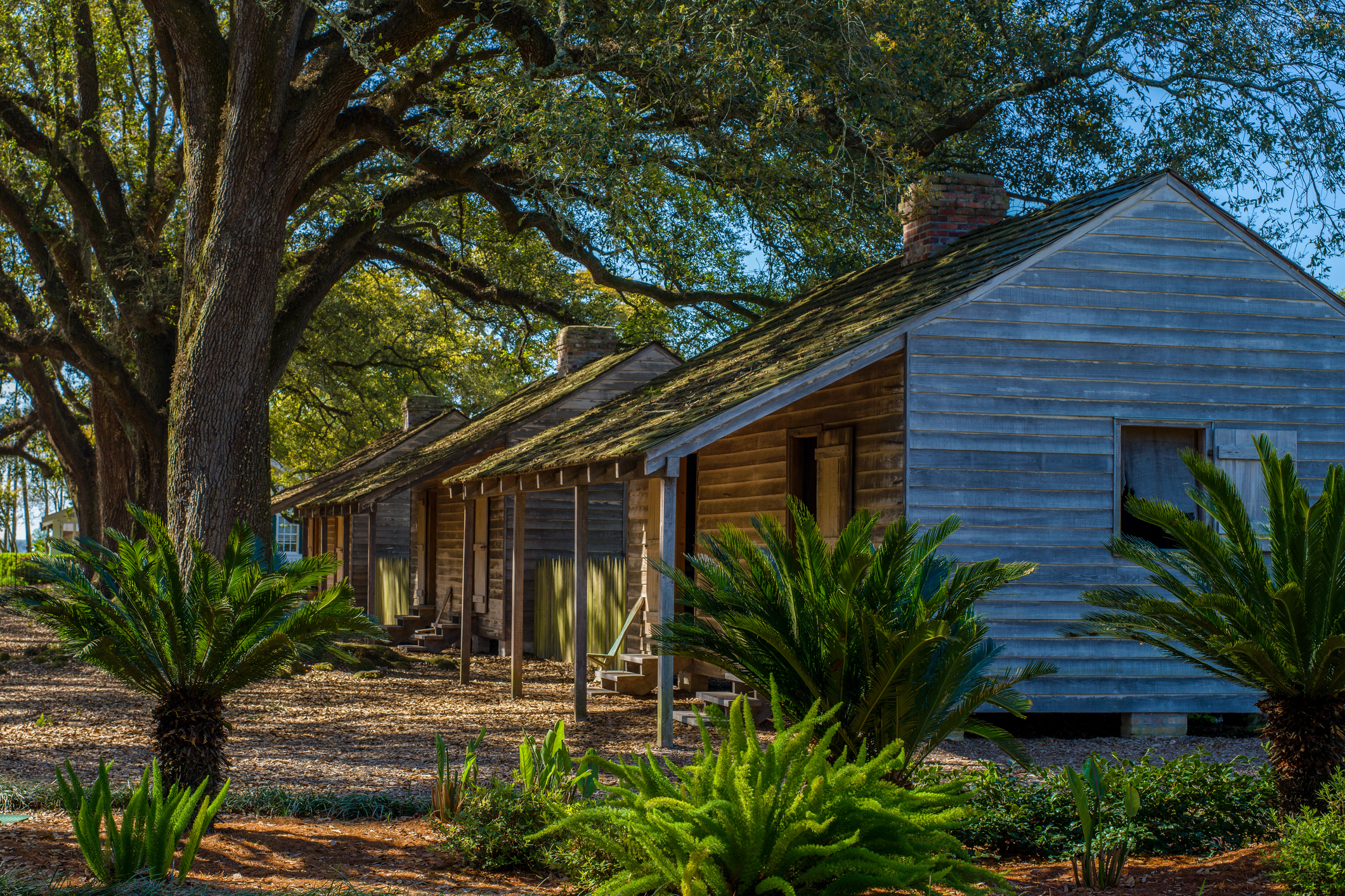 Preserved Historical Oak Alley Slave Cabins (Getty Images)