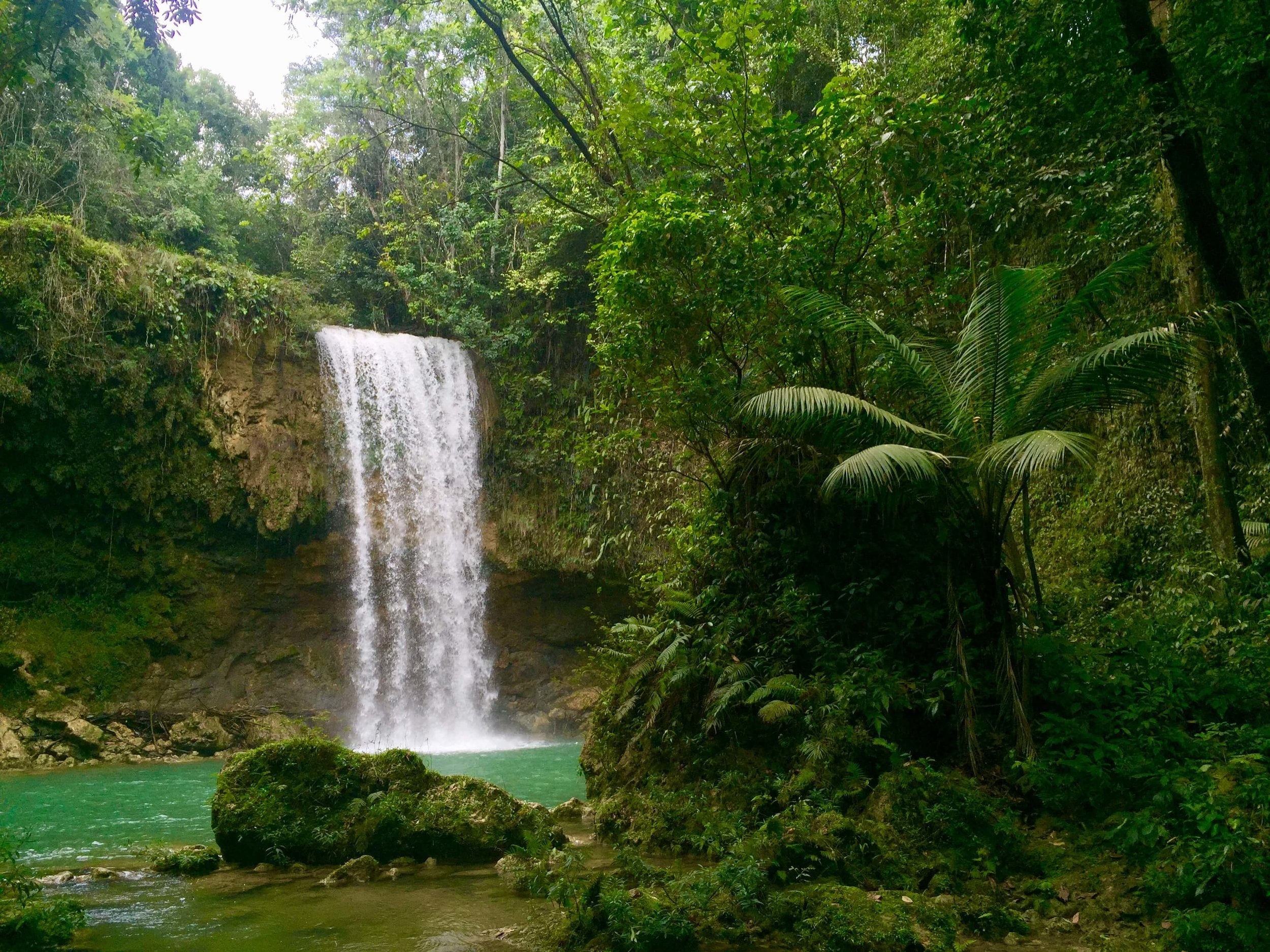 Salto de Socoa, a picturesque waterfall and pool in the Dominican Republic