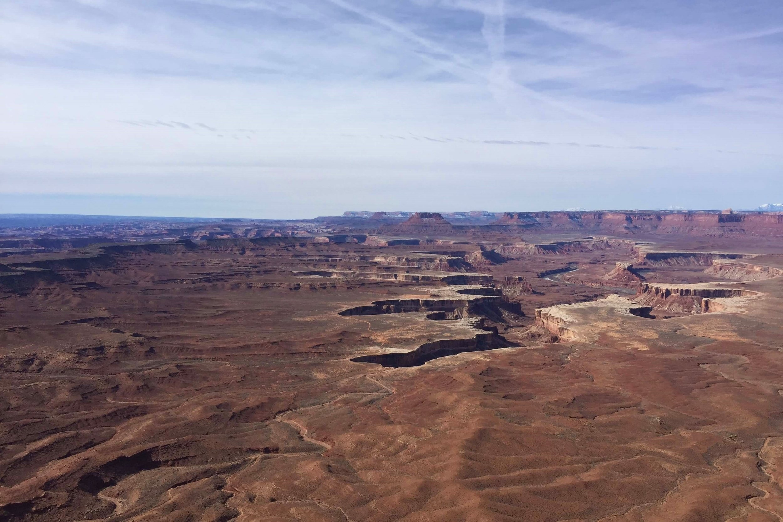 Canyon Inception at its finest with Green River cutting through Canyonlands National Park.