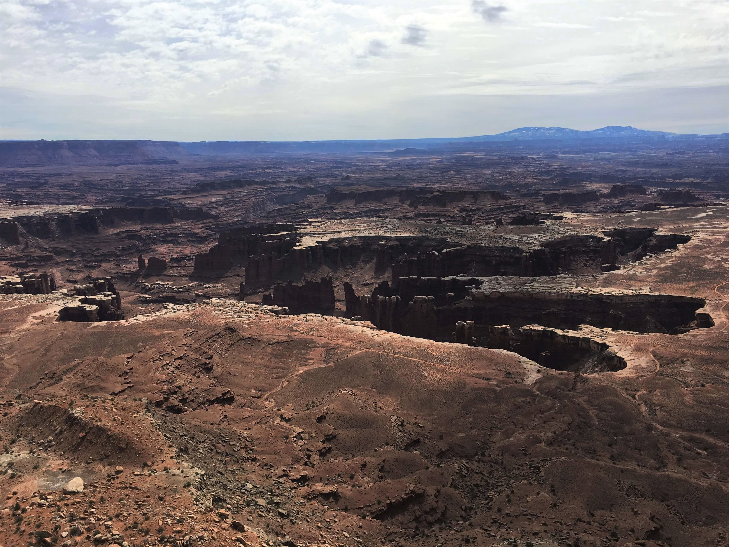 The stunning Grand View Overlook at Canyonlands National Park.