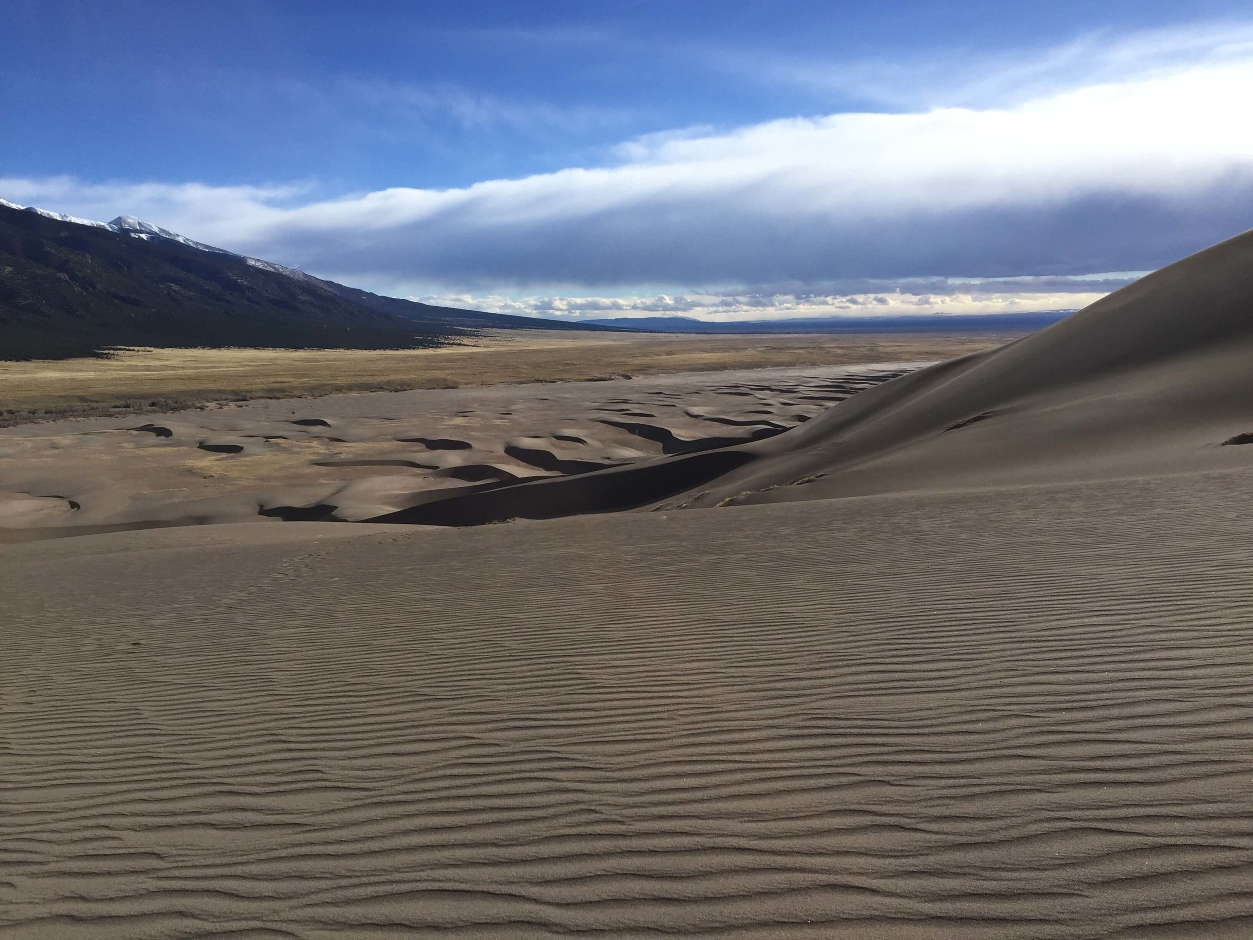 Perfect patterns in the sand created by the constructive/destructive winds of the Great Sand Dunes National Park and Preserve.