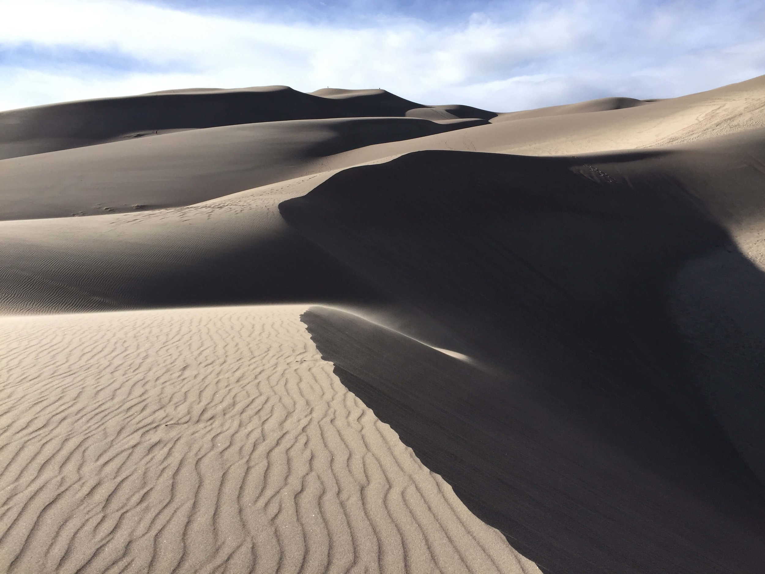 The hike to High Dune, Great Sand Dunes National Park