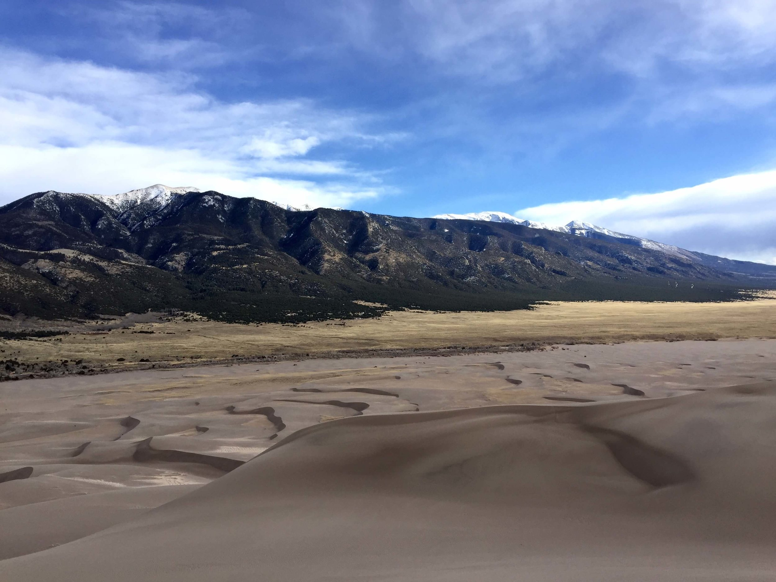 Where valley meets dune and mountain at the Great Sand Dunes National Park.
