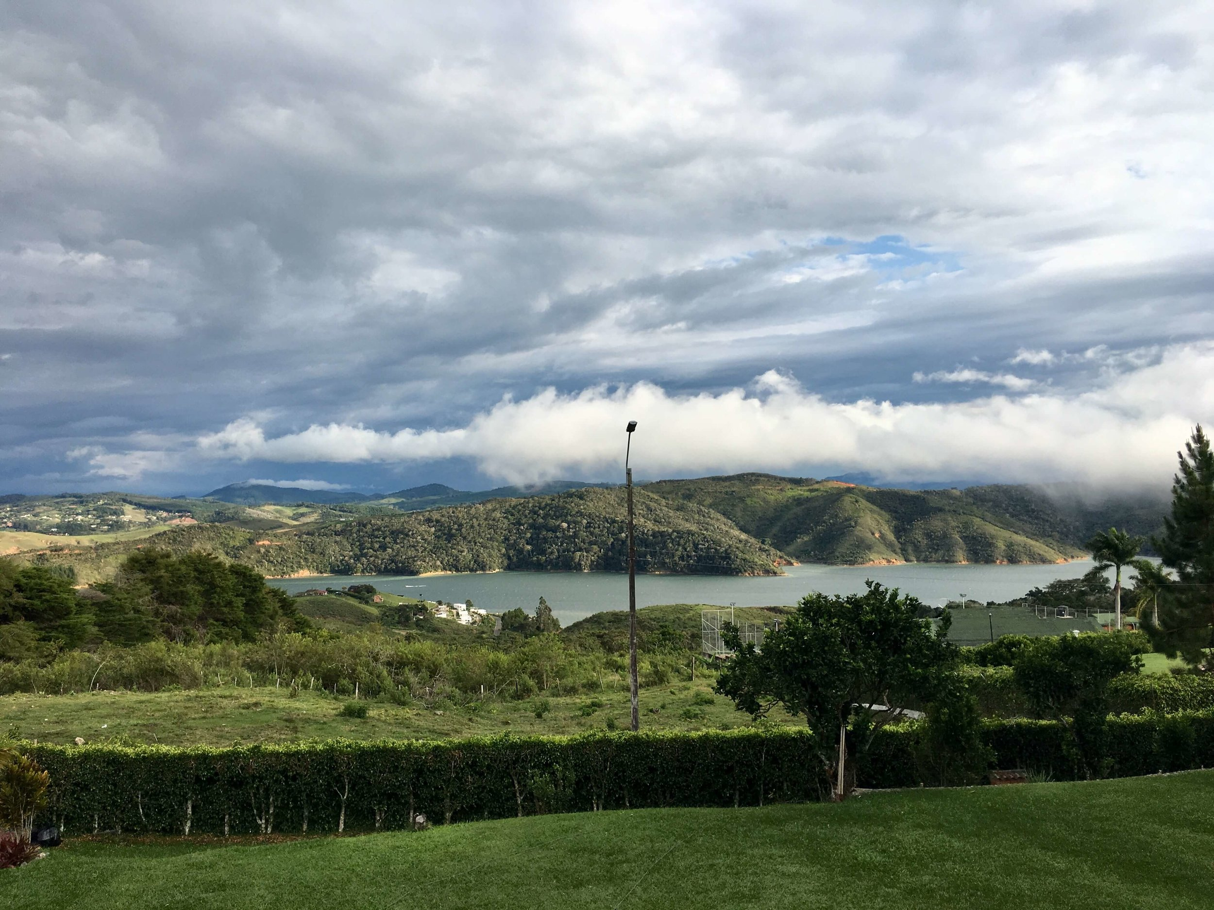 View of the lake from Local House Hostel, Lago Calima