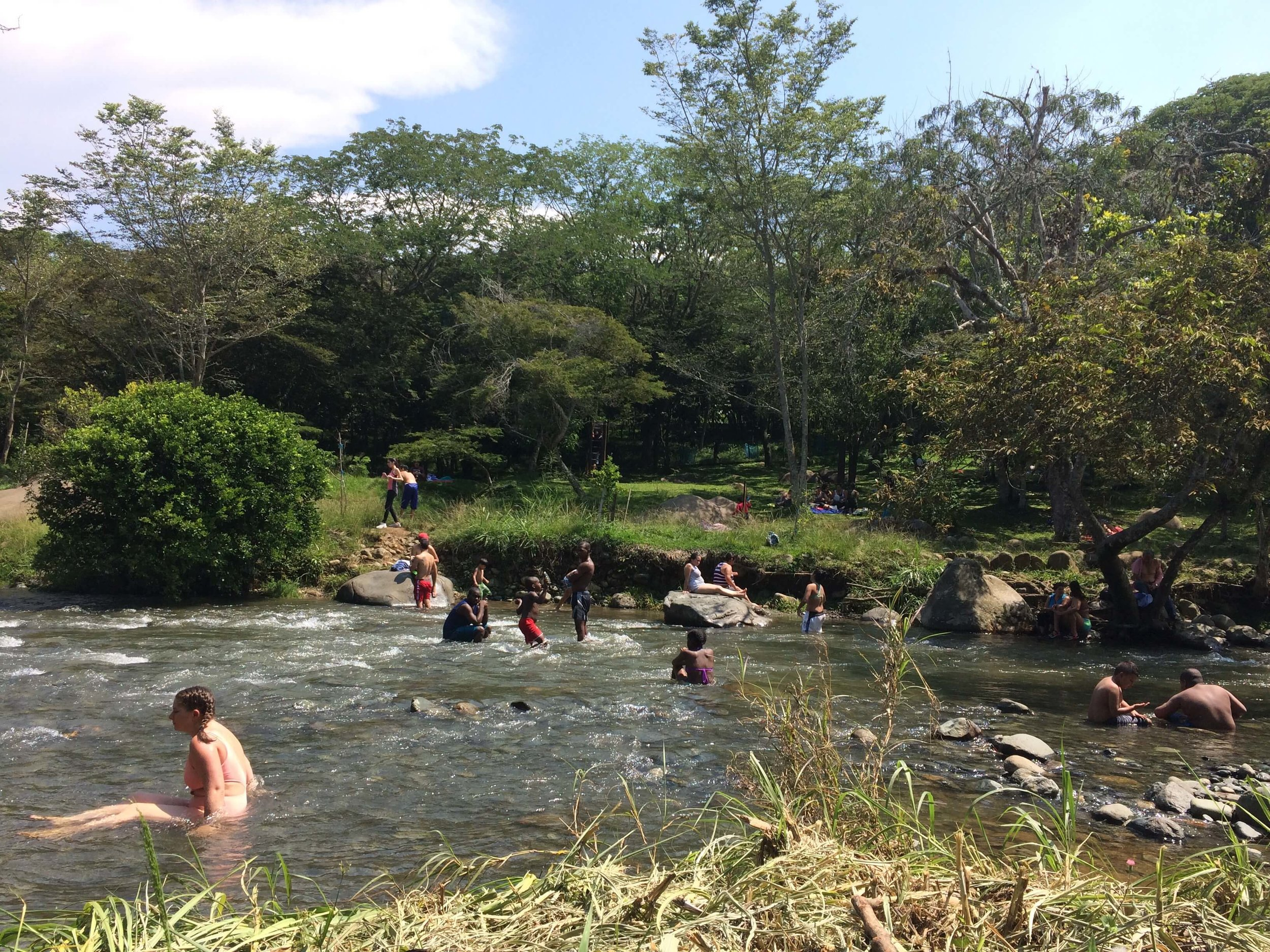 Enjoying a sunny day in the shallows of Rio Pance at the Ecoparque.