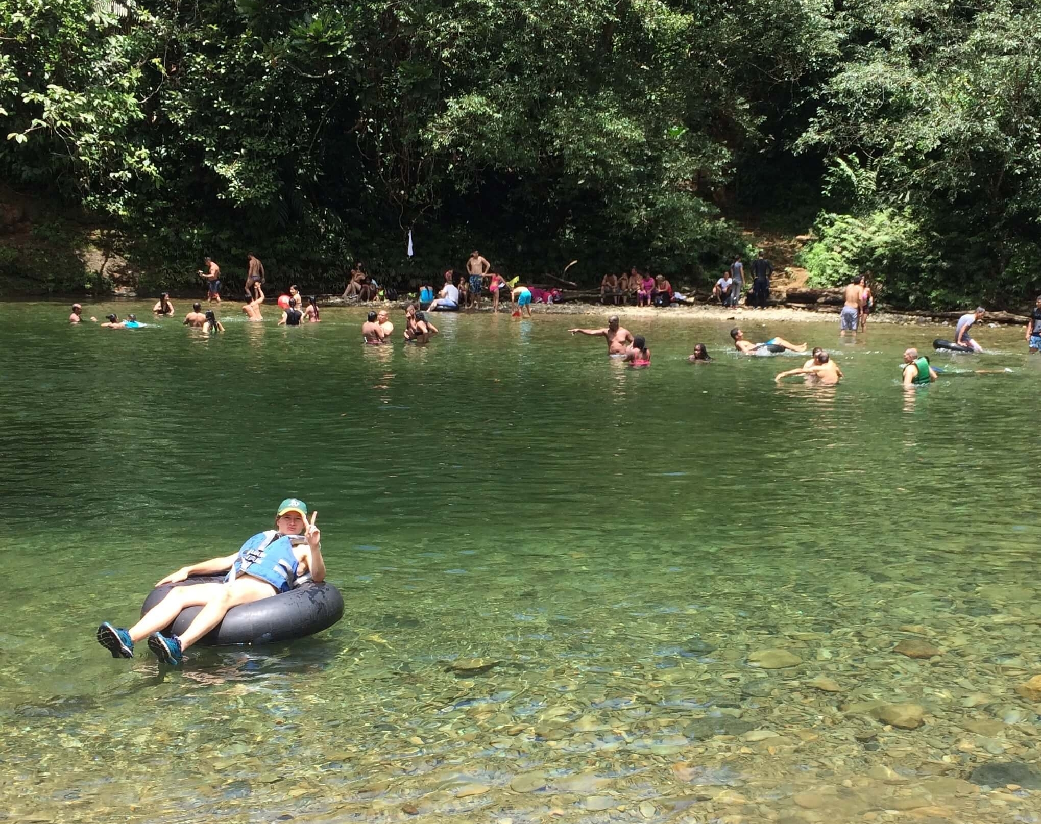 Popular swimming hole in San Capriano