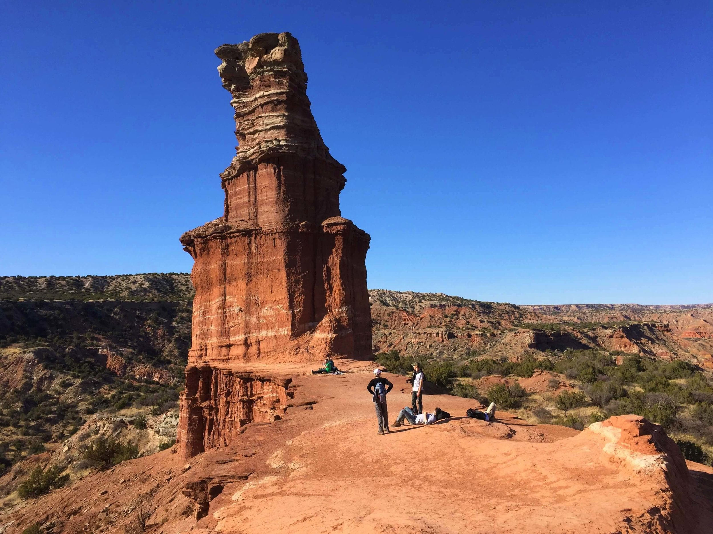 Lighthouse Rock at Palo Duro Canyon State Park.