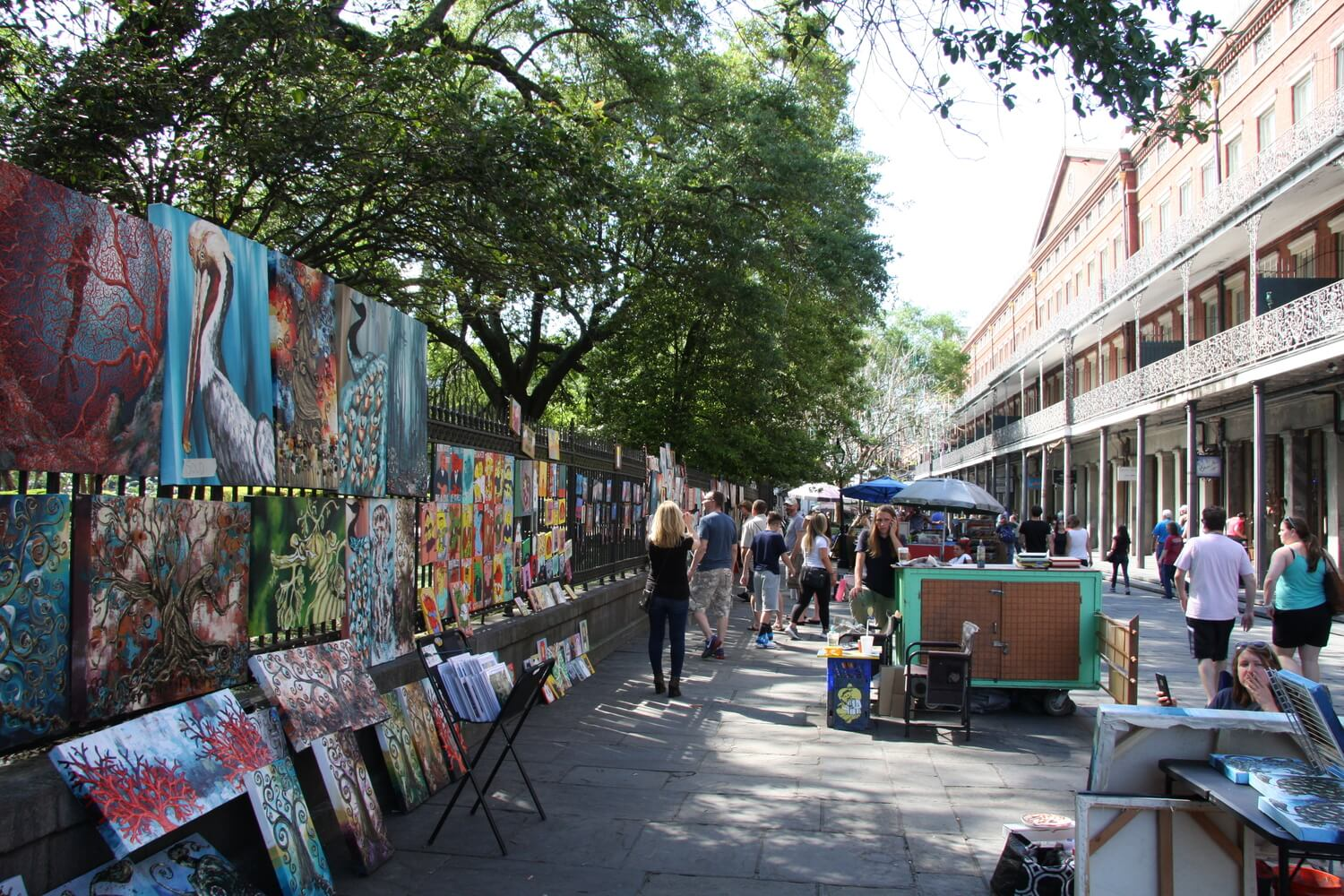 Street art around the French Qaurter's Jackson Square. #3 in Best Things to Do in the French Quarter.