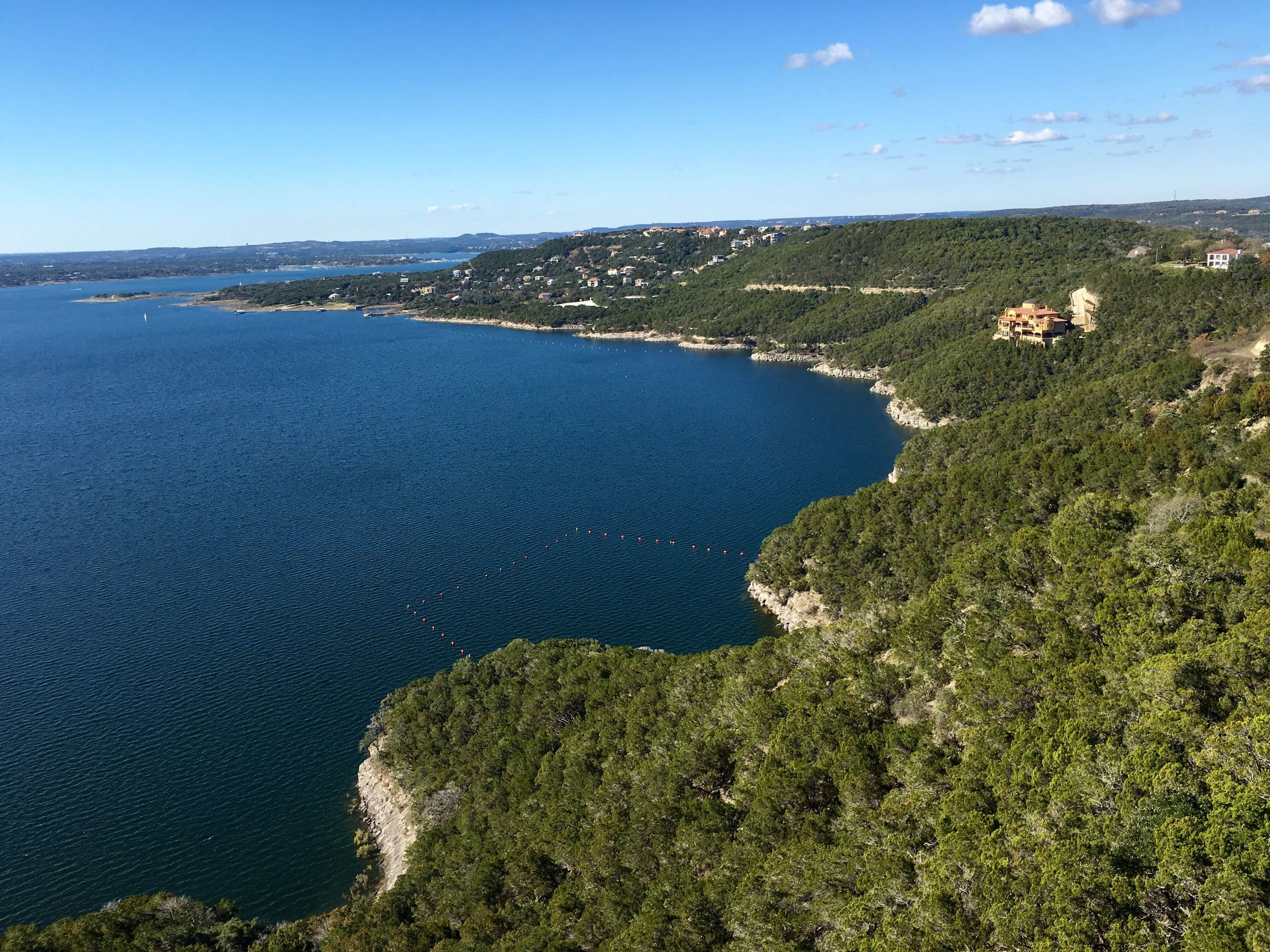 A grand view of Lake Travis, in the Austin Hill Country of Texas.