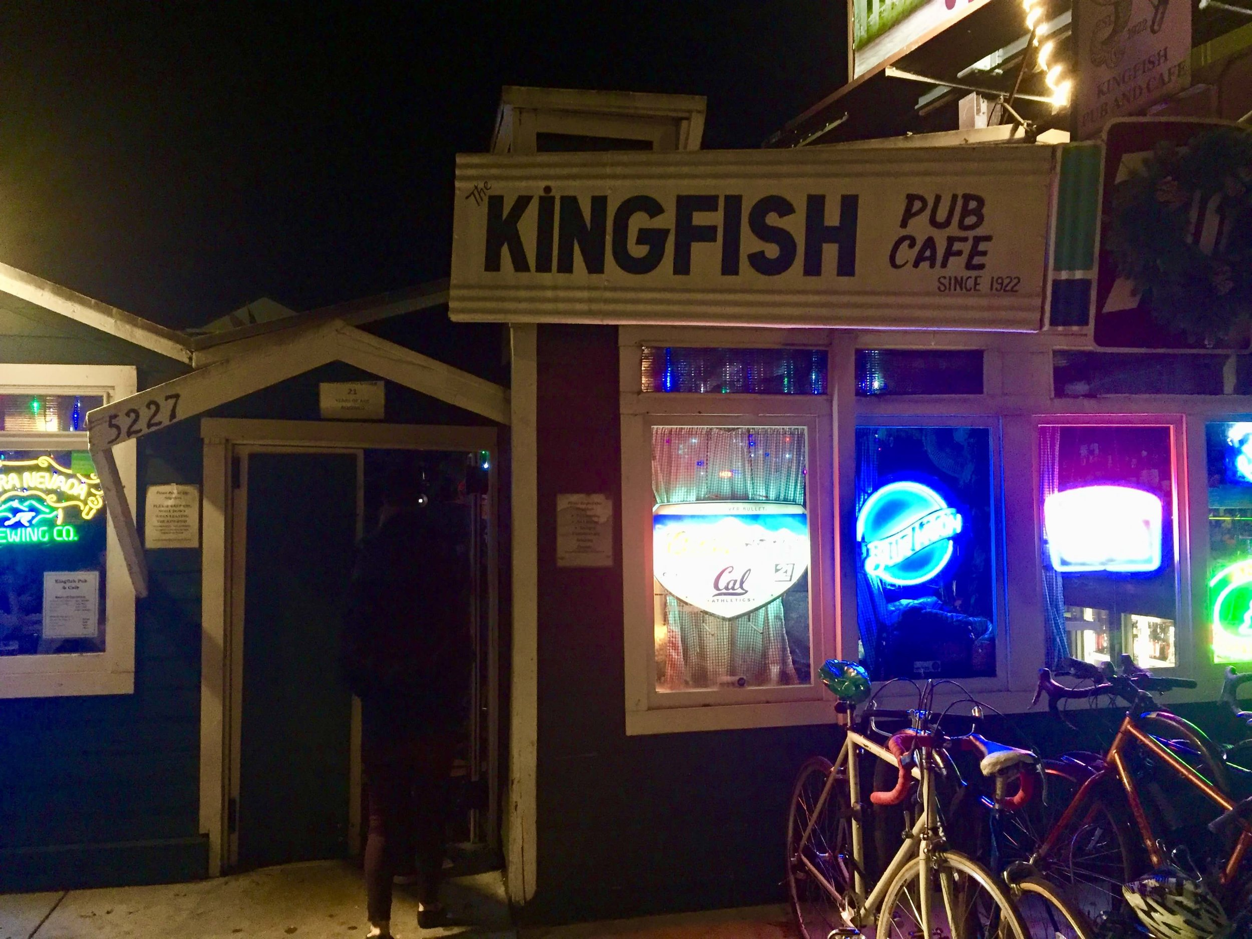 The Kingfish Pub and Cafe in Oakland's Temescal neighborhood.