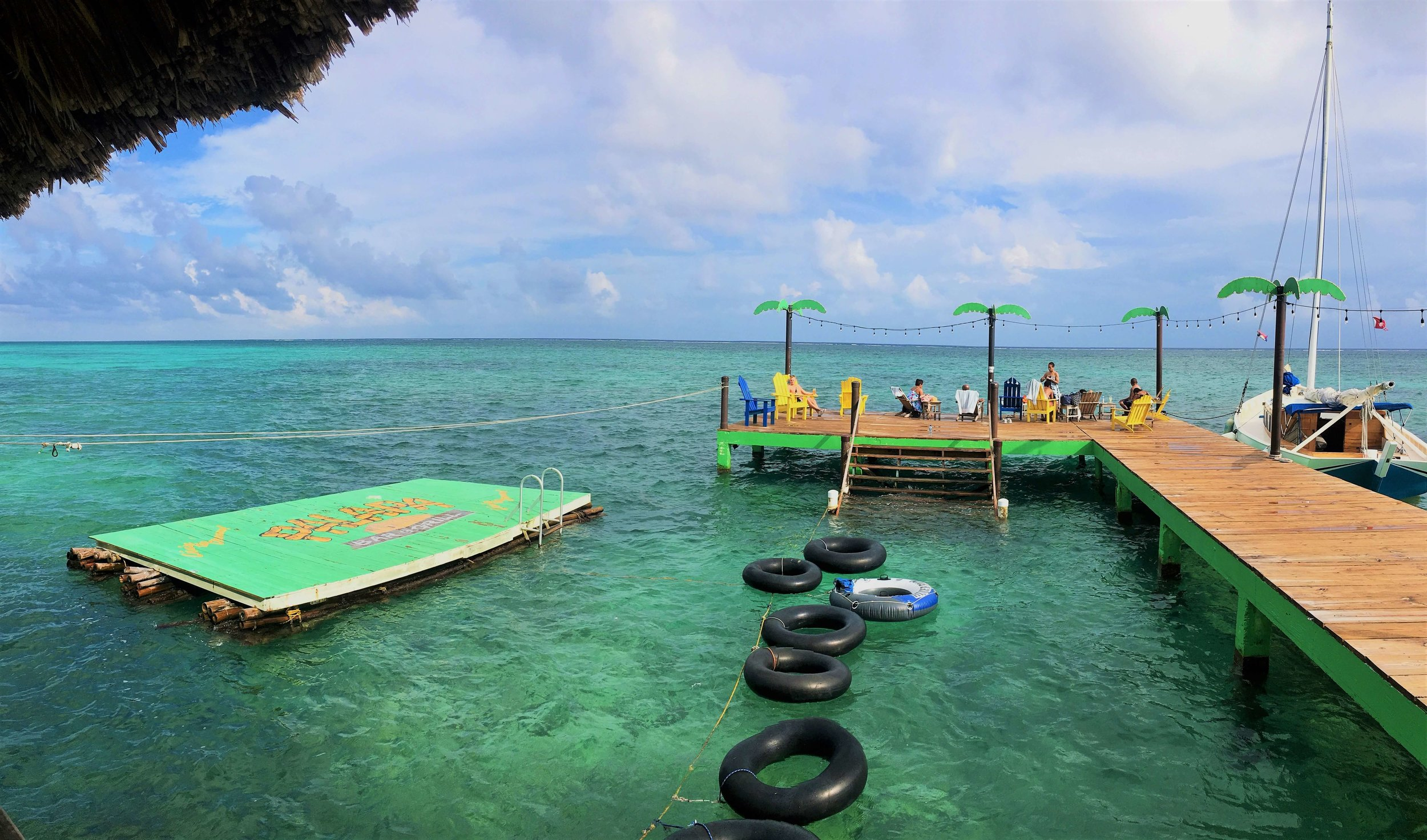 The inner tubes are ready for some big chillin' (San Pedro, Belize).
