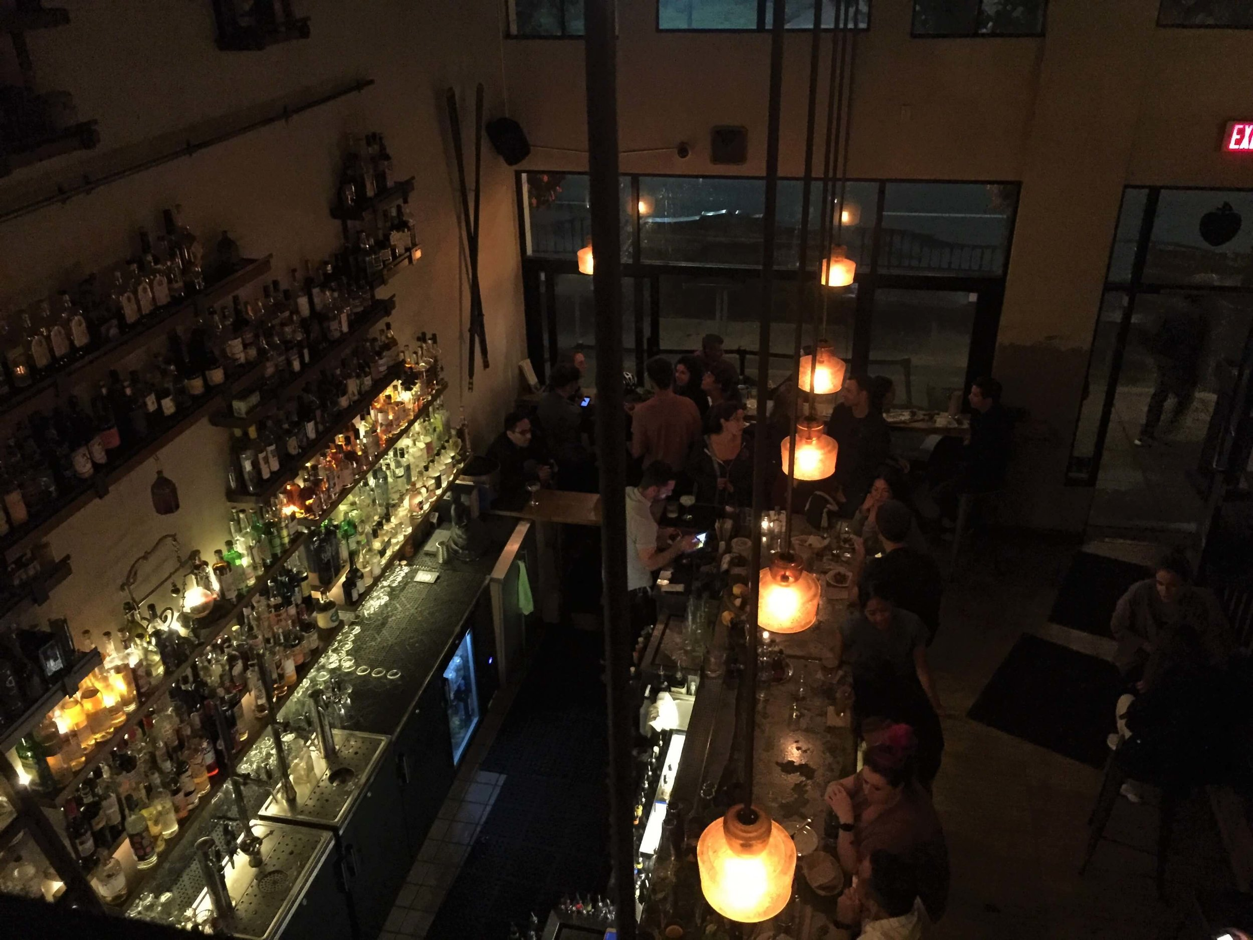The view from the upper section of the East Bay Spice Company. Best bars in Berkeley.