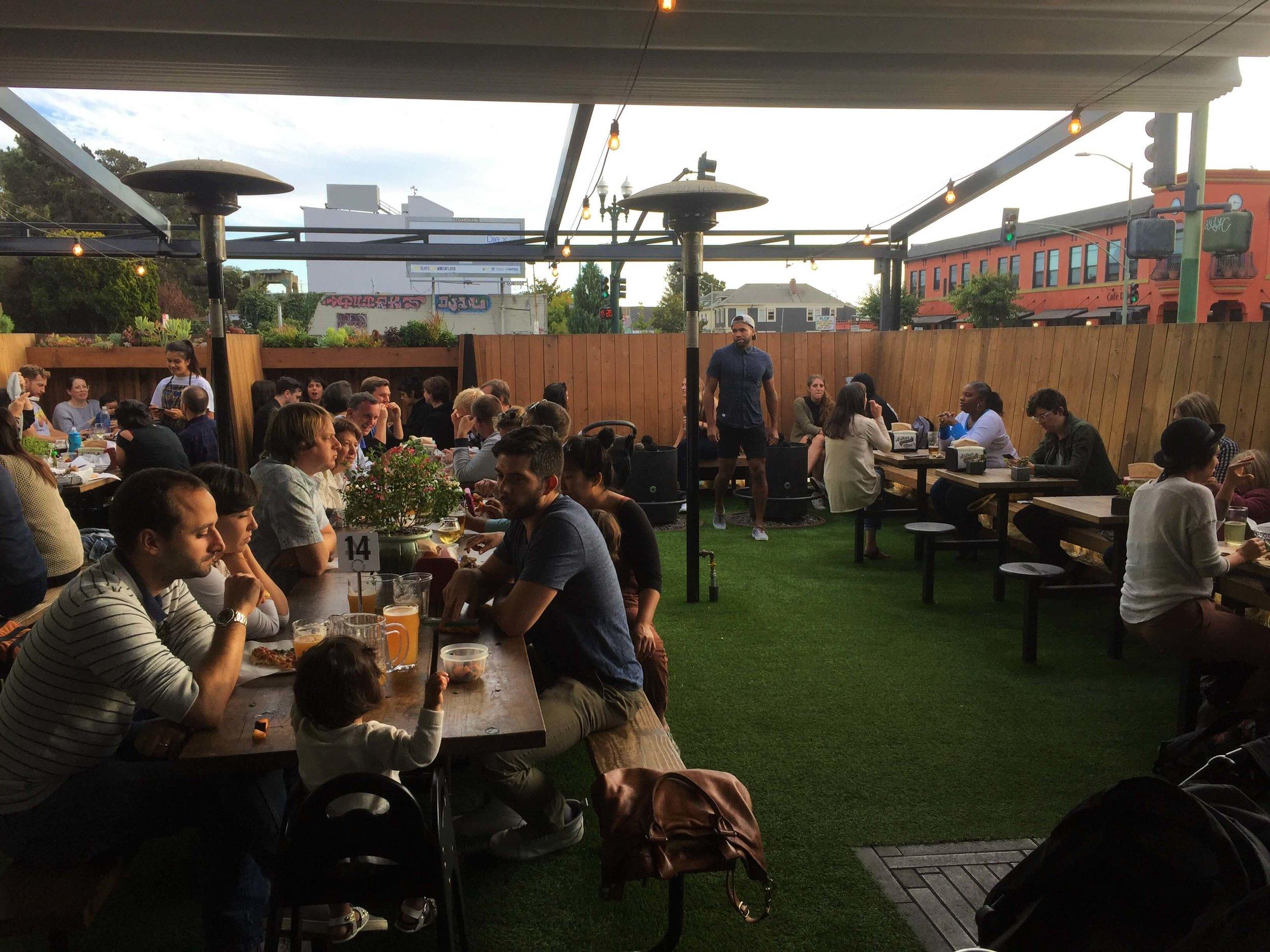 The family friendly beer garden at Arthur Mac. Best Bars in Oakland.