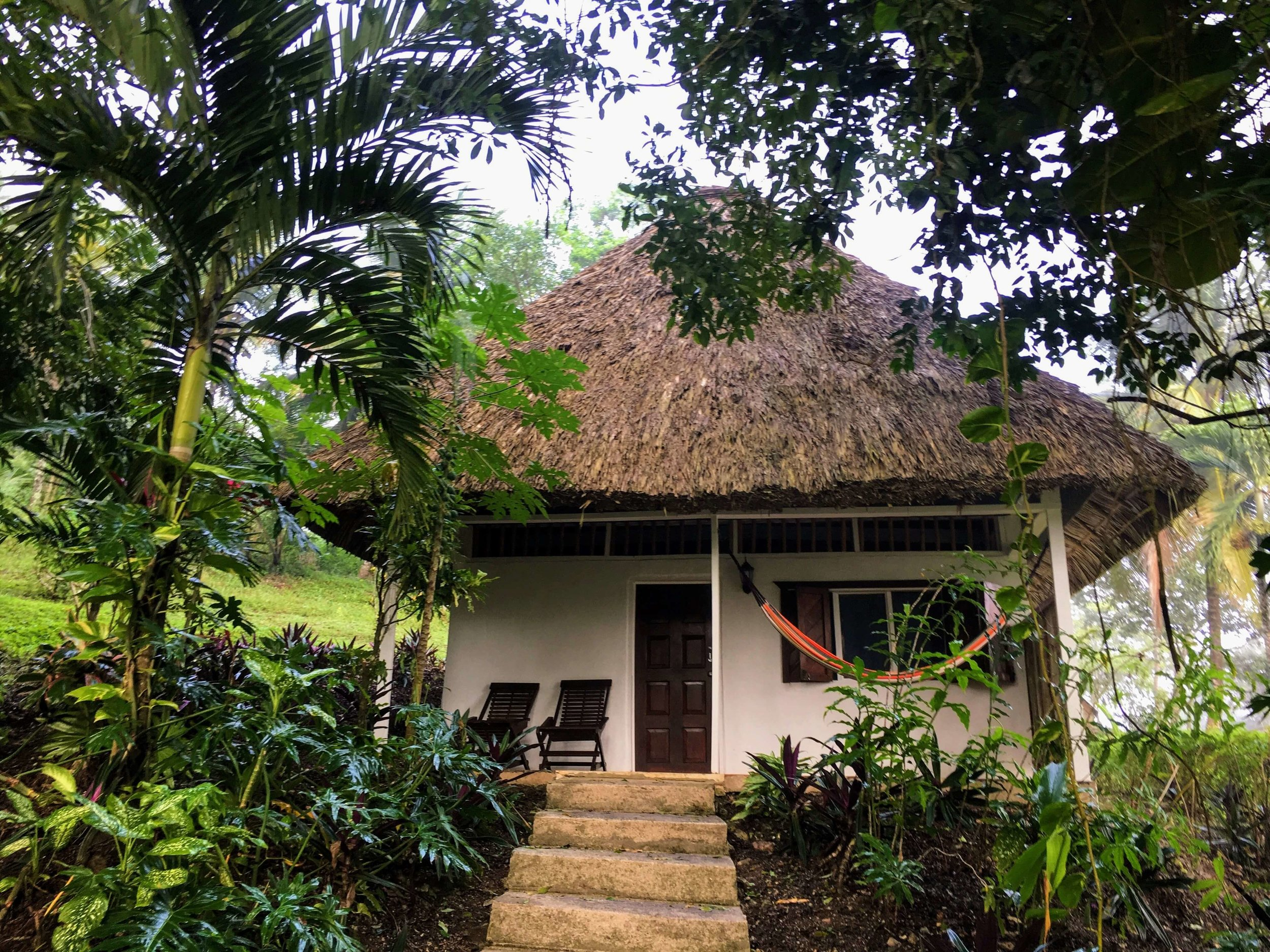 A personal bungalow in the jungle at Maya Mountain Lodge. A great place to stay near San Ignacio, Belize.