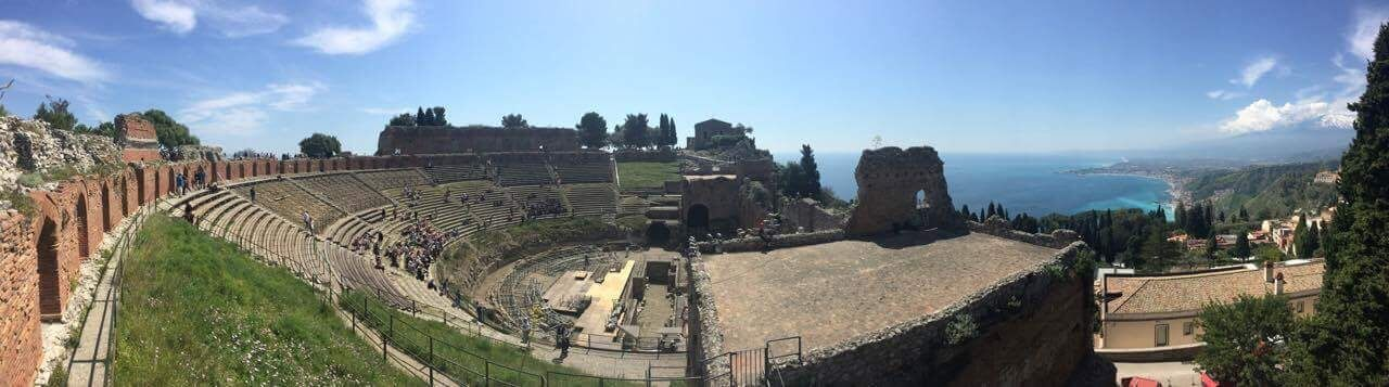 The Greek theater in Taormina, Italy is truly a sight for sore eyes. This epic view should be part of everyone's bucket list.