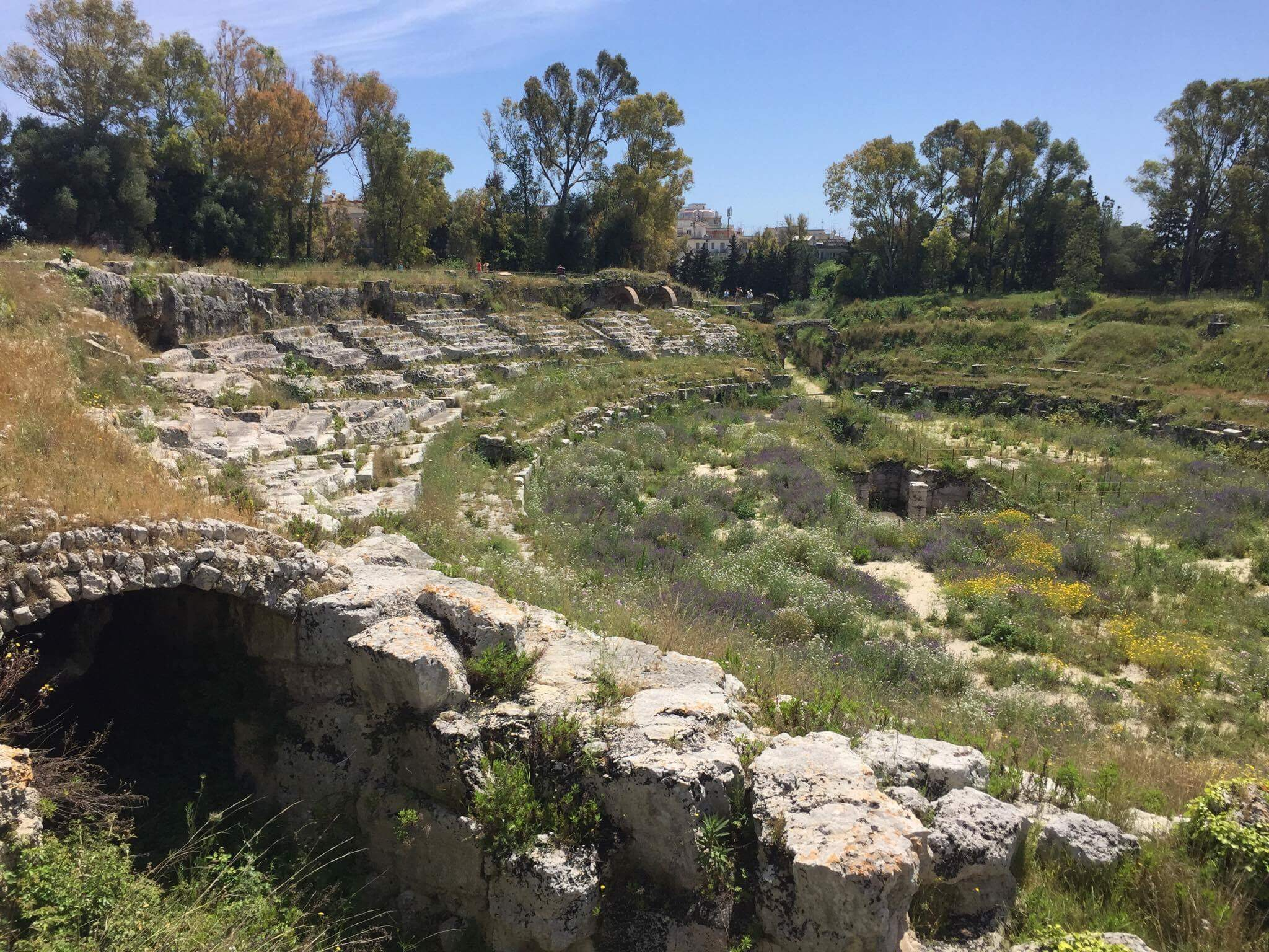 The Romans later built an amphitheater just walking distance from the Greek theater. You will be able to see this too on your tour to the archaeological park.