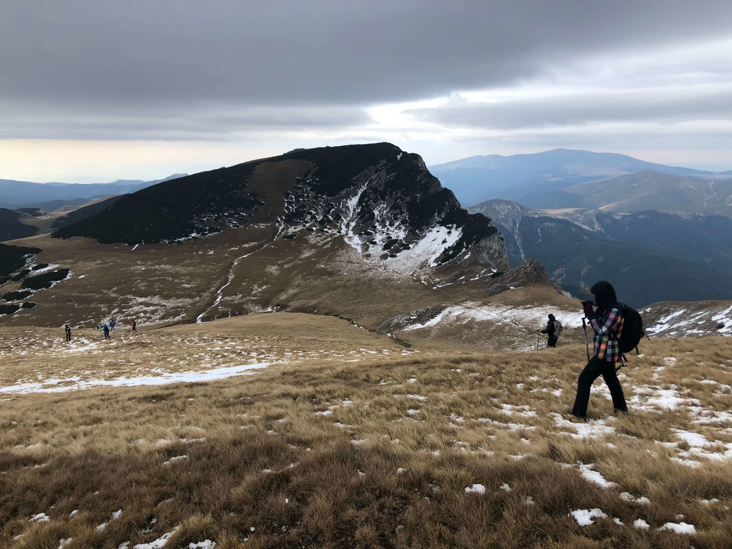 Seen here, making your initial decent from the peak of Saua Strunga in Bucegi.