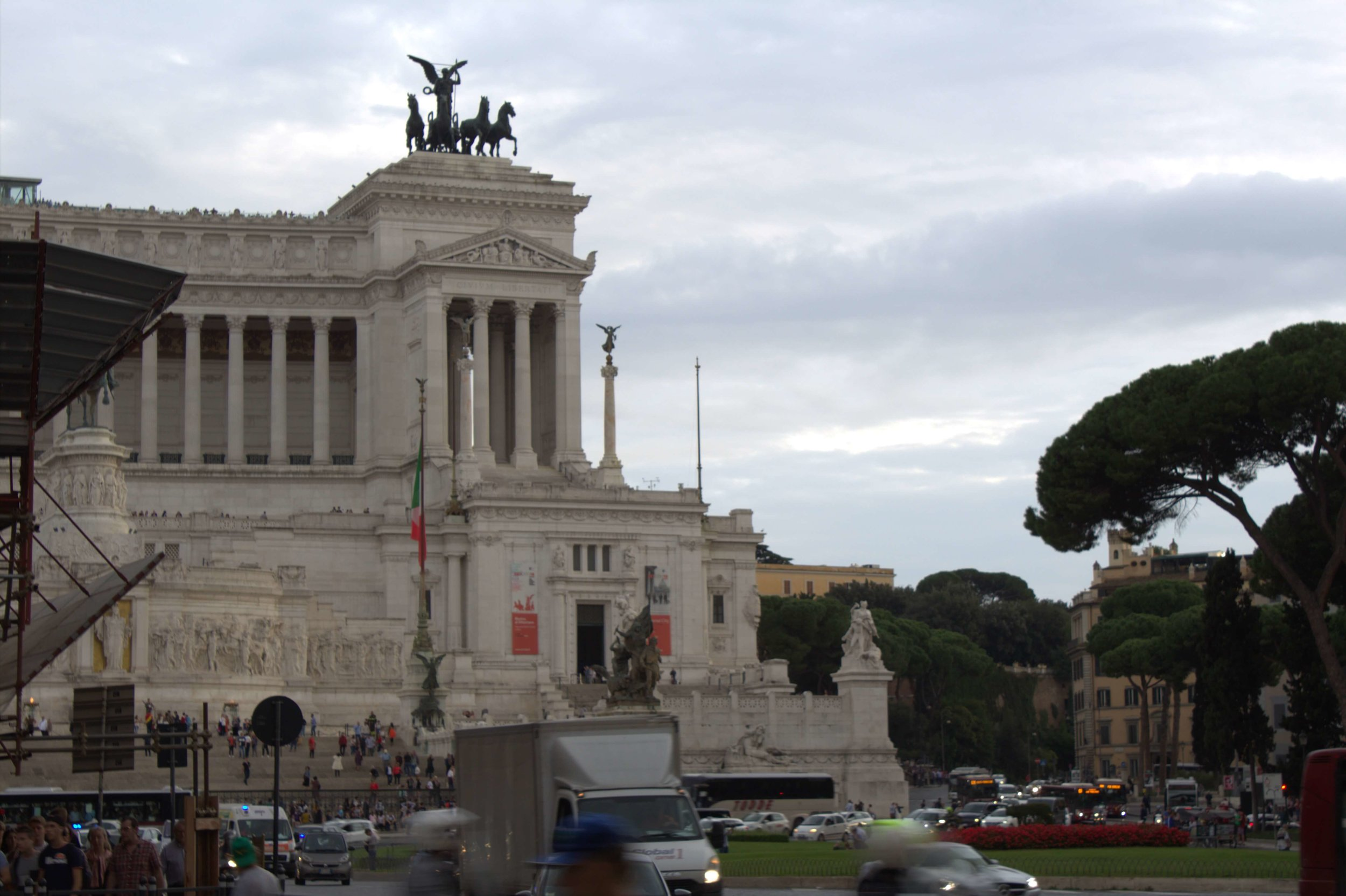 The Monument of the Fatherland is a pretty remarkable structure, although one can't help but notice it proximity to where Italian Fascist leader Mussolini gave harrowing speeches.