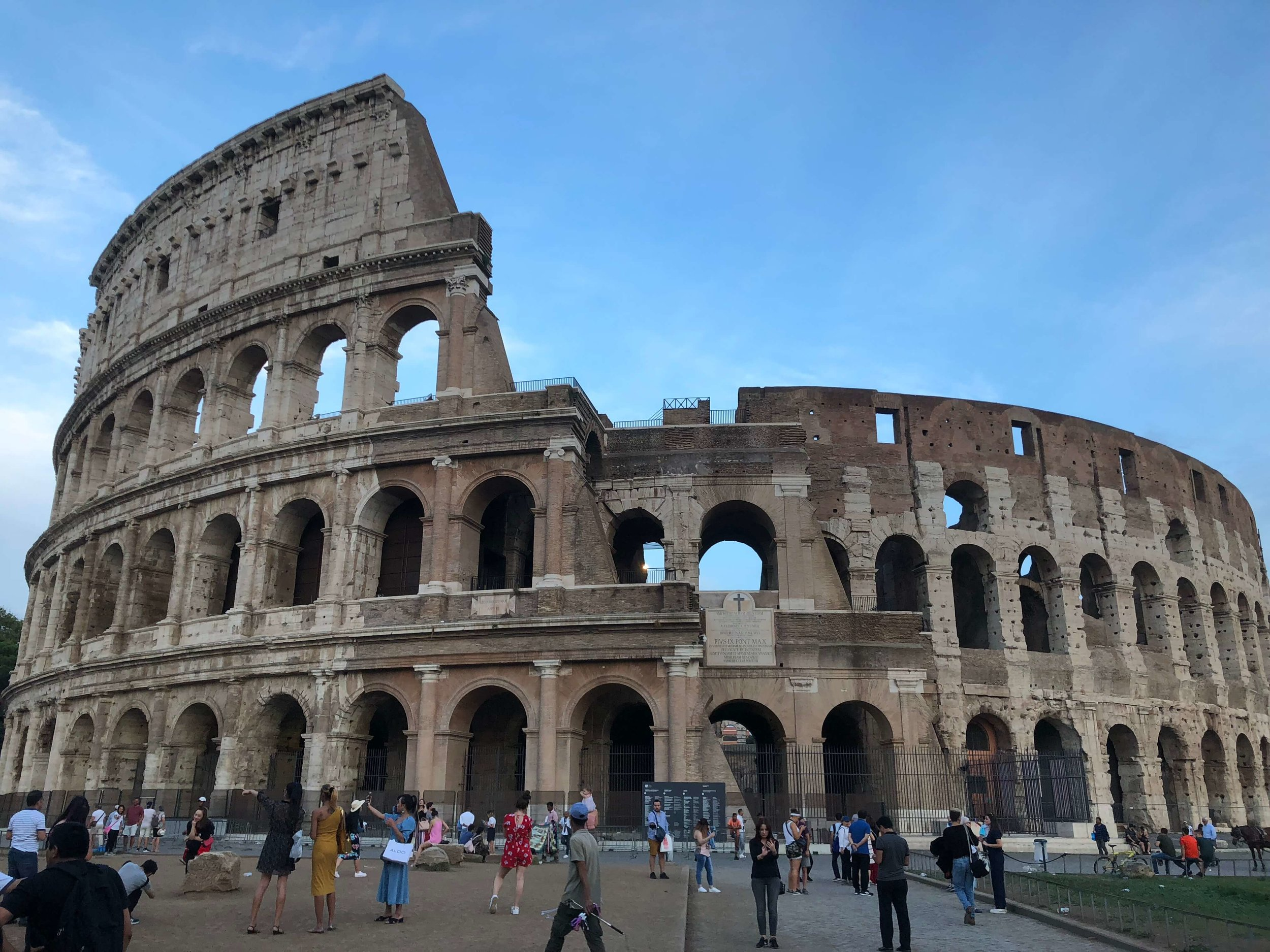 Built in around 72 AD the Colosseum could hold around 60 to 80 thousand spectators with games involving animals and gladiators lasting sometimes well over one hundred days.